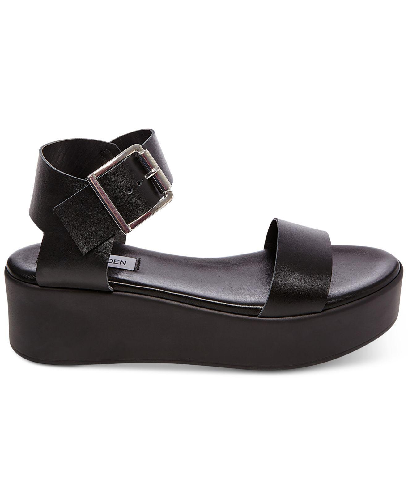 13294e7ce5d Steve Madden Black Recover Flatform Sandals