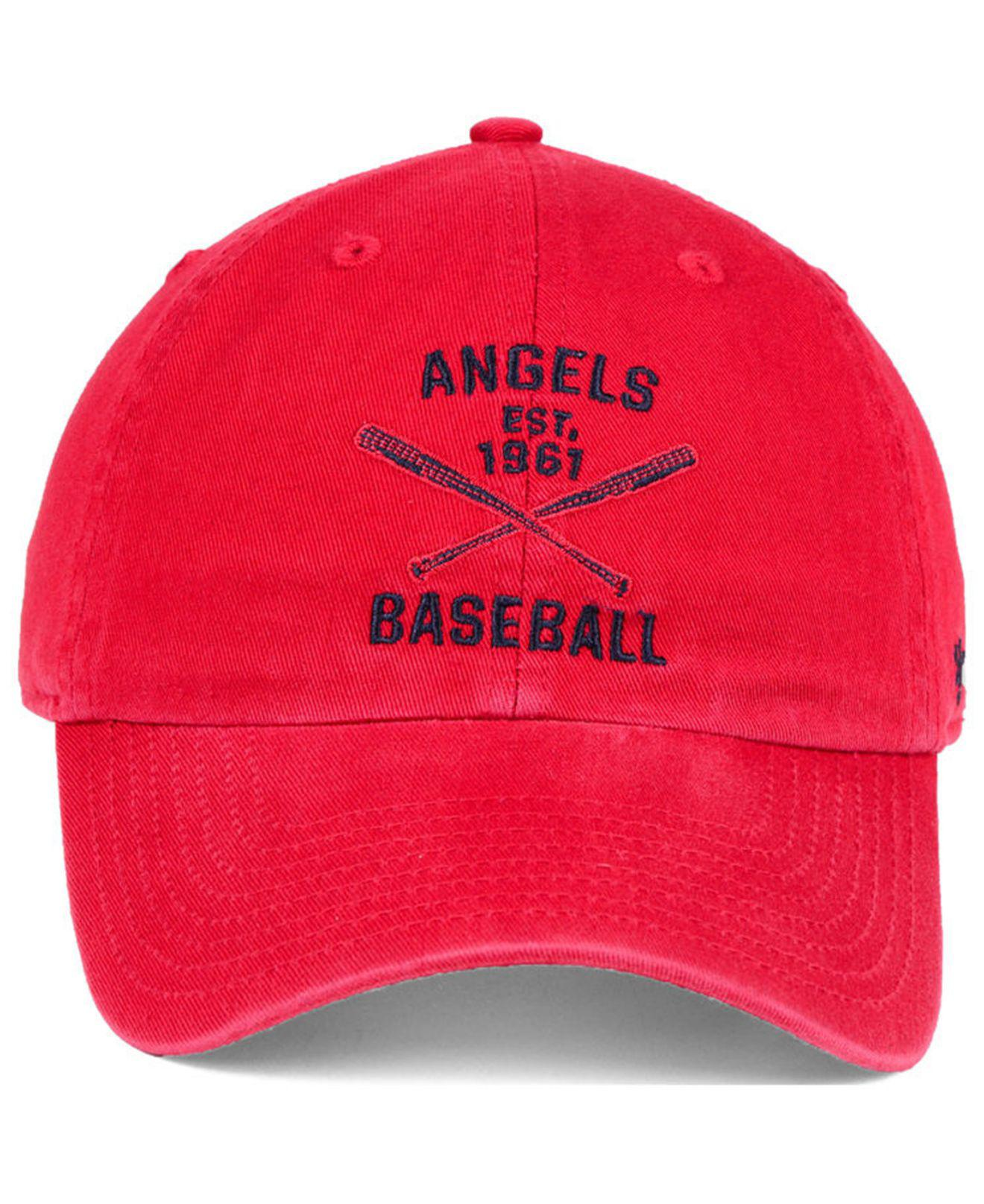 buy popular f6e9c 78cd6 ... discount lyst 47 brand los angeles angels axis clean up cap in red for  men a5717