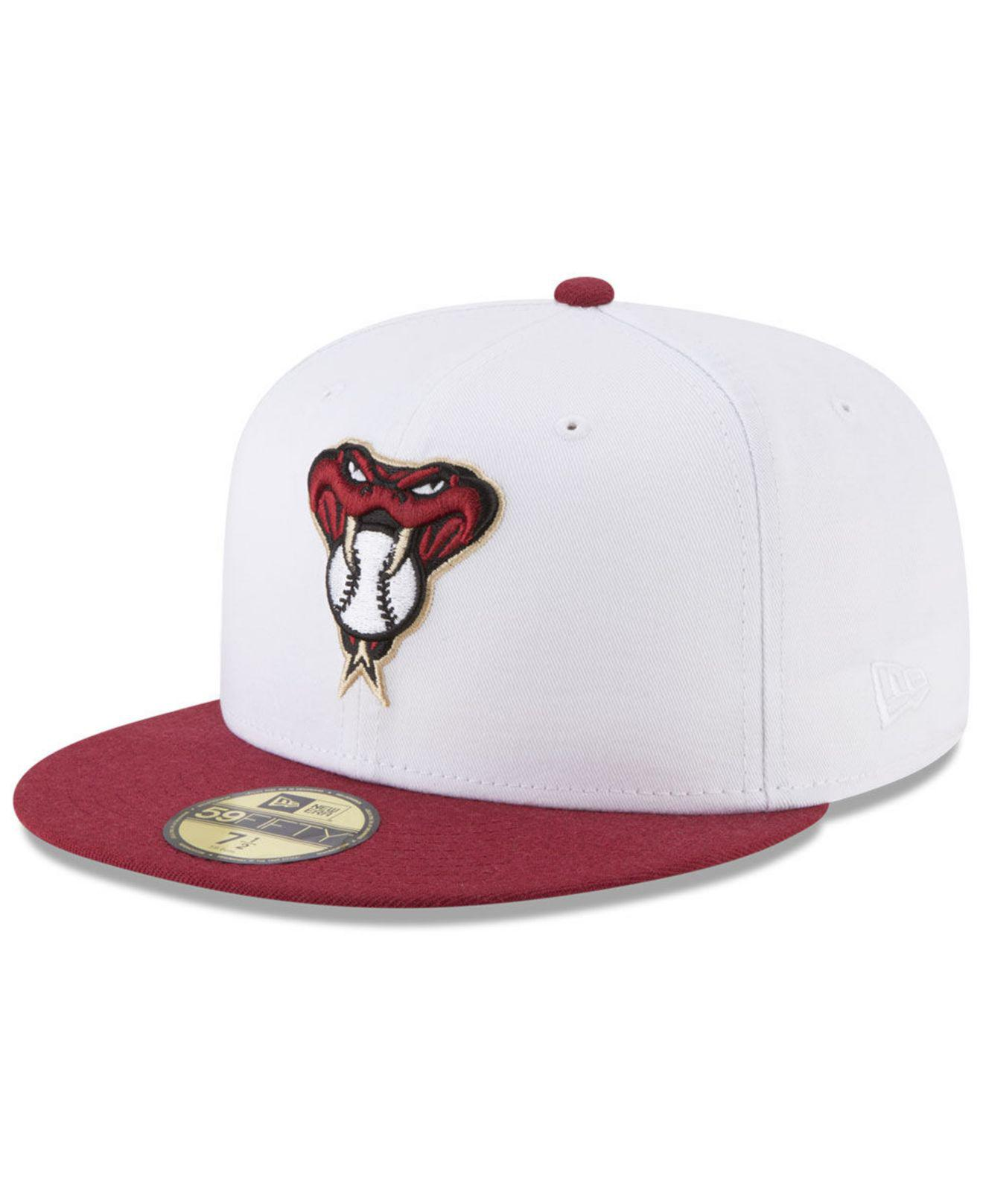 07f62ebe075 KTZ. Men s White Arizona Diamondbacks Batting Practice Wool Flip 59fifty  Fitted Cap