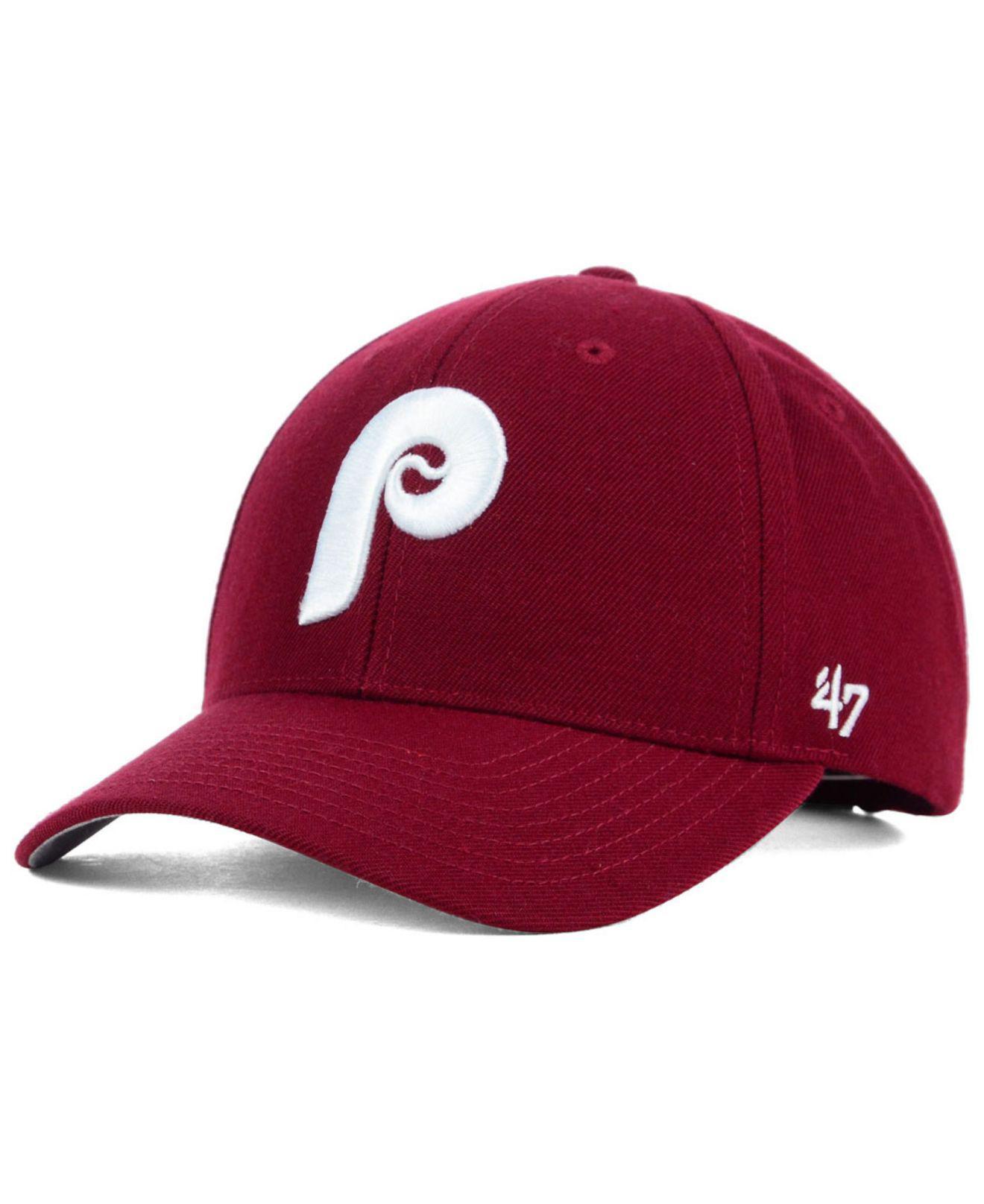 641e88fe781 Lyst - 47 Brand Philadelphia Phillies Mvp Curved Cap in Purple for Men