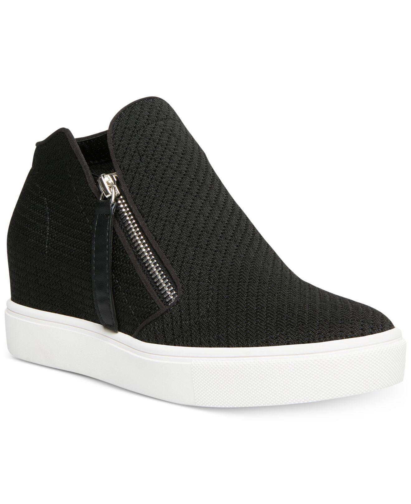 80e78bde603 Women's Black Camden Knit Wedge Sneakers