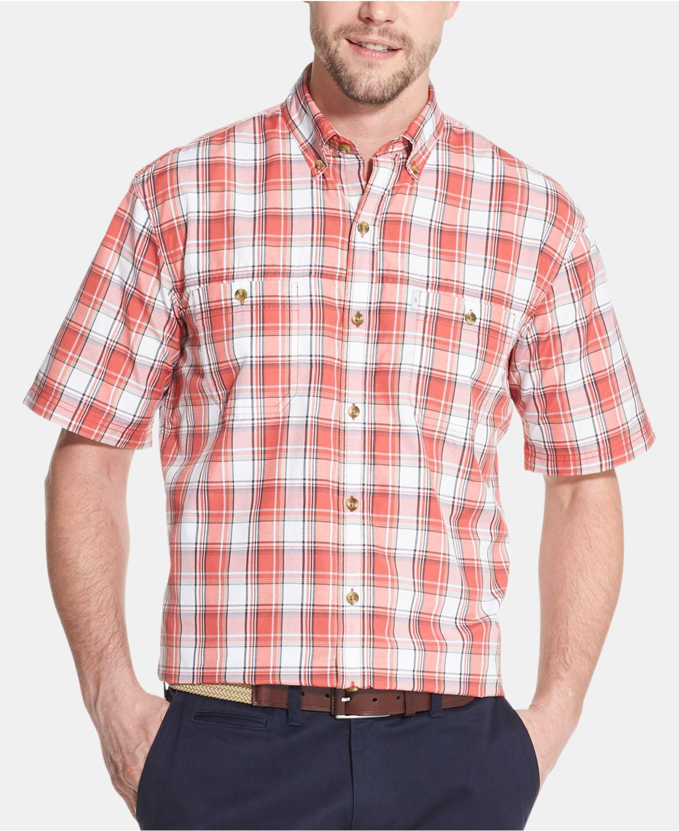 7ef5f9bb2e Lyst - G.H.BASS Bluewater Bay Plaid Shirt in Red for Men
