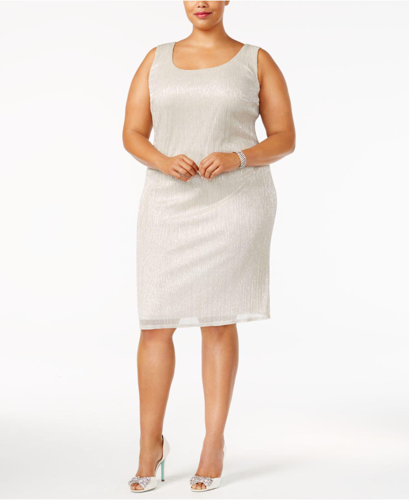 43ecb65d2974f Lyst - R   M Richards R m Richards Plus Size Sleeveless Metallic Dress And  Jacket
