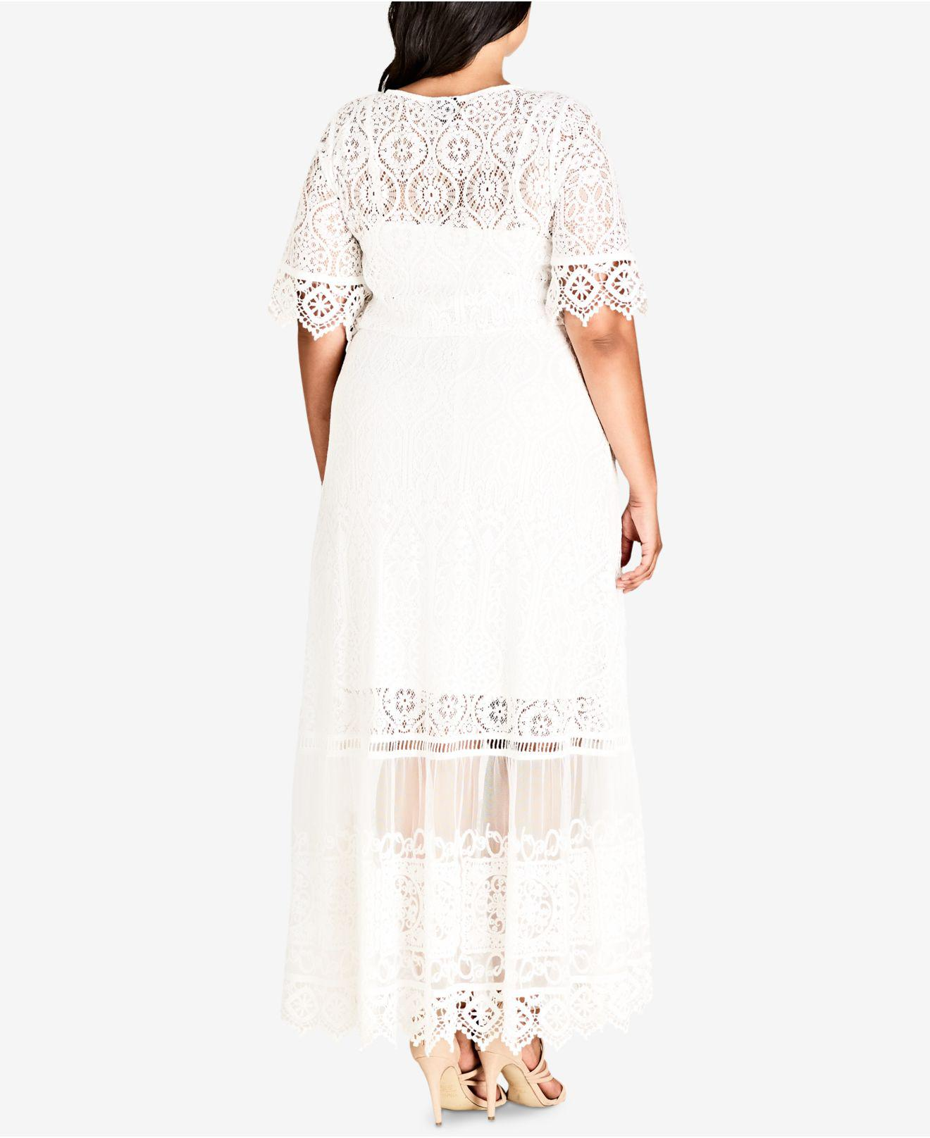 Plus Summer Lace Maxi Dress