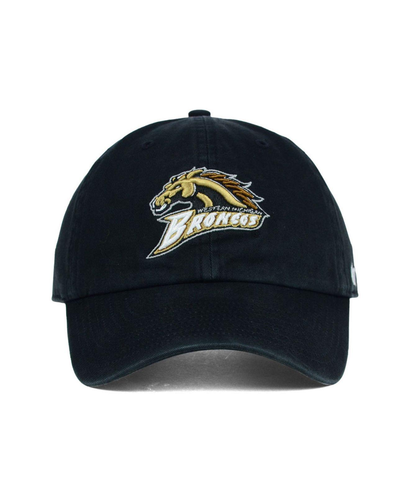 285a81d2 Lyst - 47 Brand Michigan Broncos Clean-up Cap in Black for Men