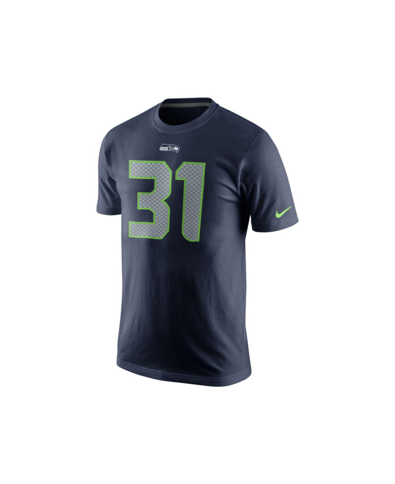 26376992f Lyst - Nike Men S Kam Chancellor Seattle Seahawks Pride Name And Number T- Shirt in Blue for Men