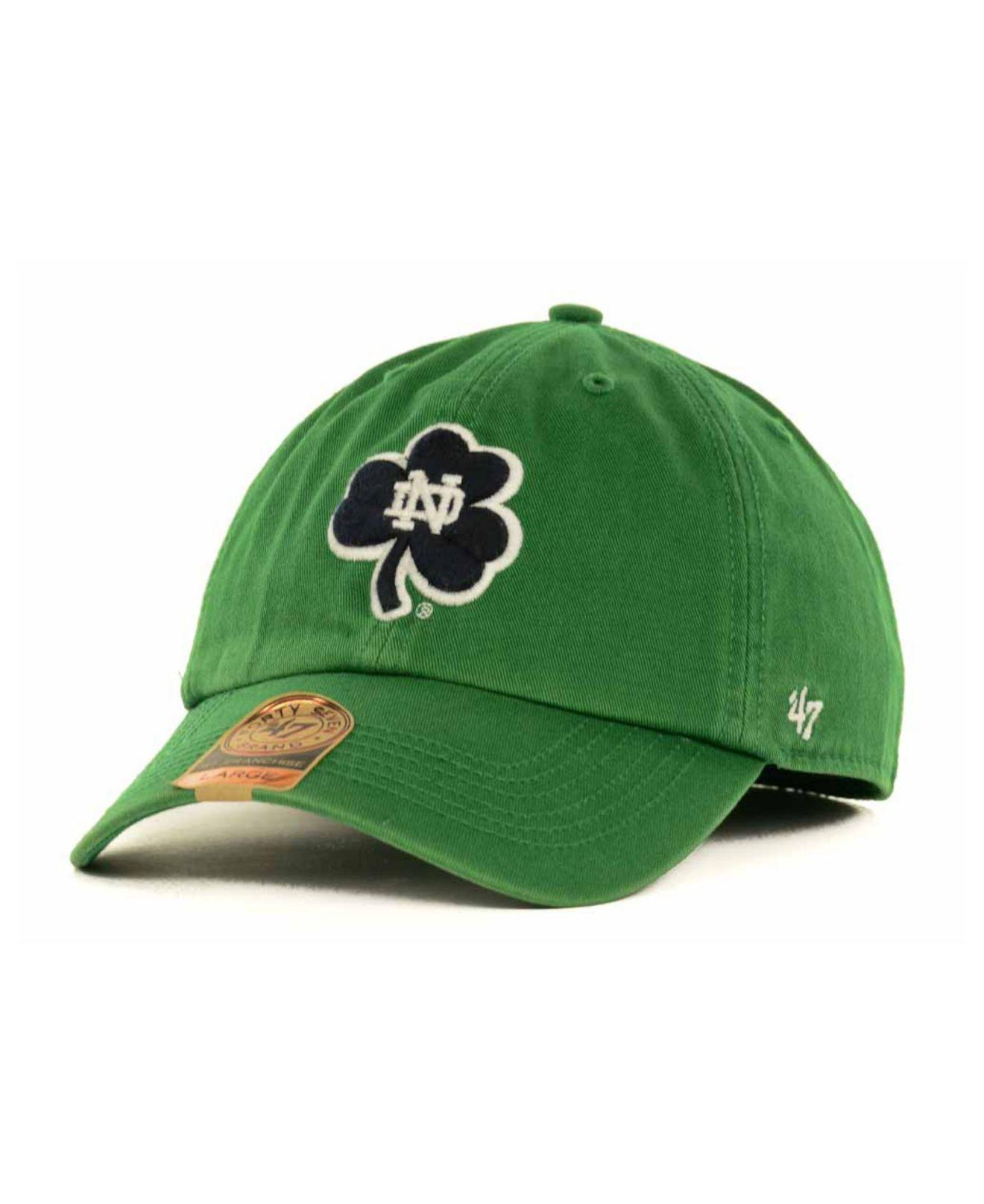 5dd1d1690fb Lyst - 47 Brand Notre Dame Fighting Irish Franchise Cap in Blue for Men