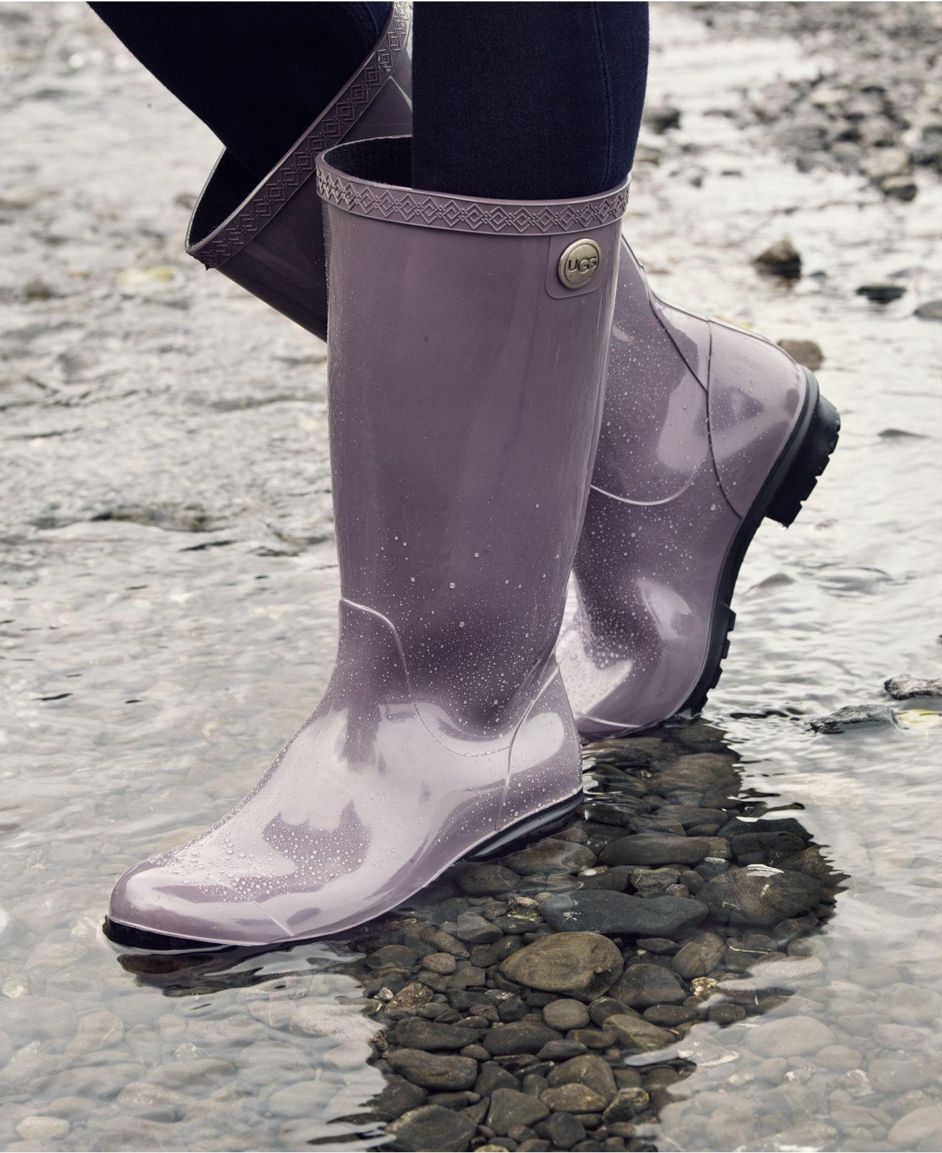 03eca7e466c Ugg Black Shaye Tall Rain Boots