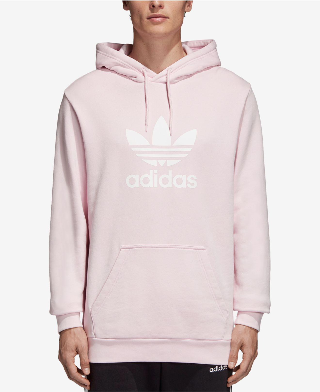 fe2ca74e02bd Lyst - Adidas Originals Trefoil Hoodie in Pink for Men