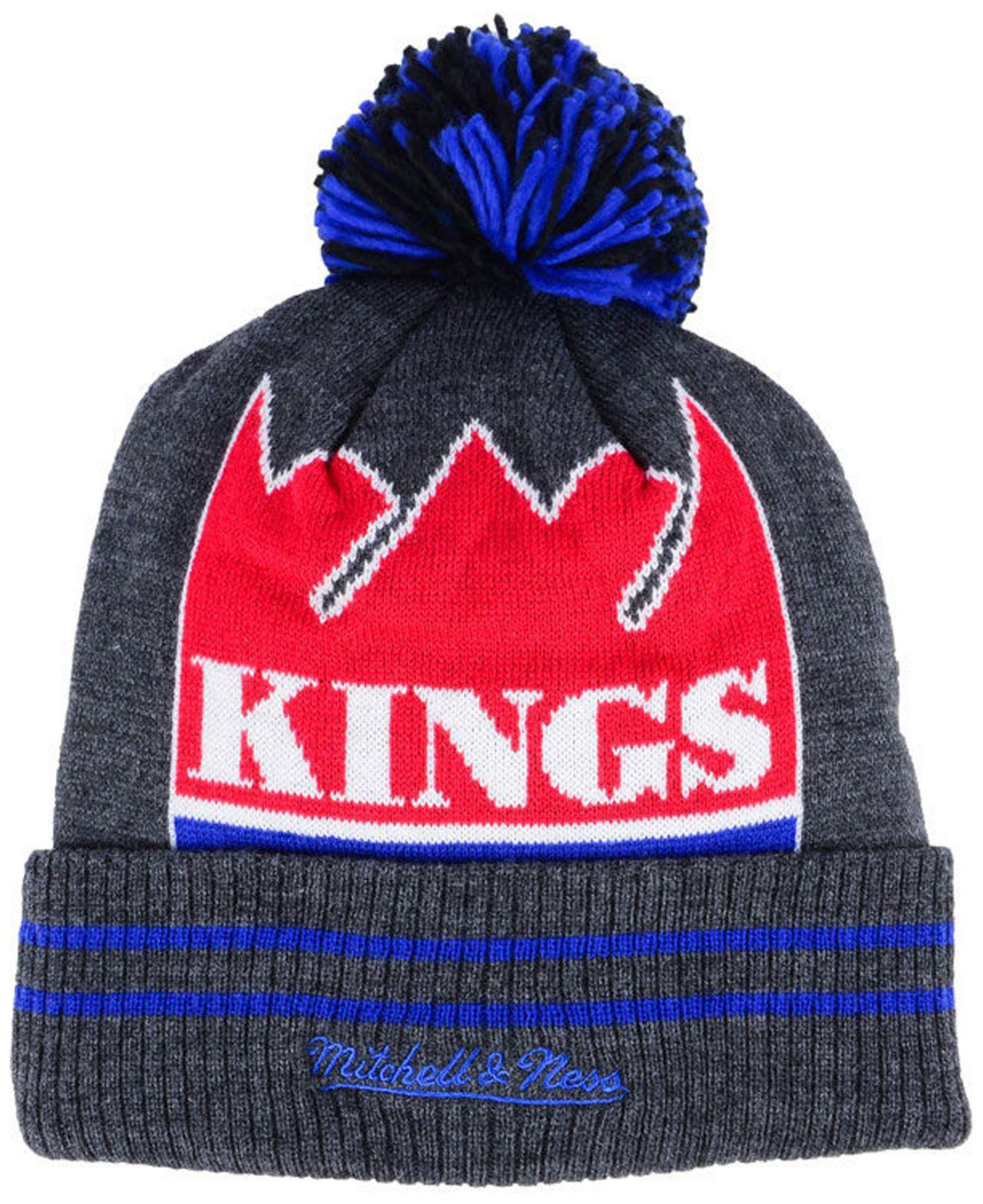f6dfc63fdc1 2a024 54d1a  sweden lyst mitchell ness sacramento kings black heather hi 5  pom knit in red 7518a 5a97a