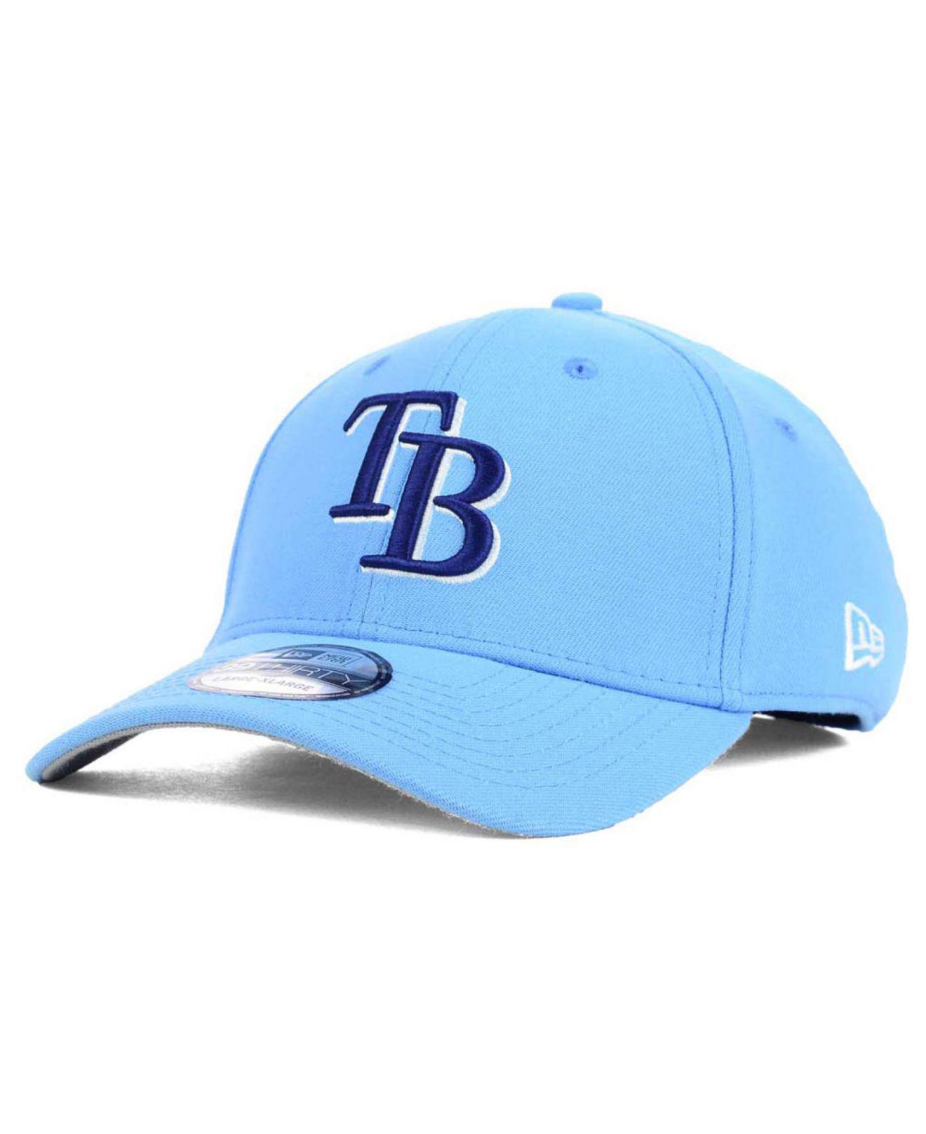 low priced 09c69 949b0 KTZ. Men s Blue Tampa Bay Rays Core Classic 39thirty Cap