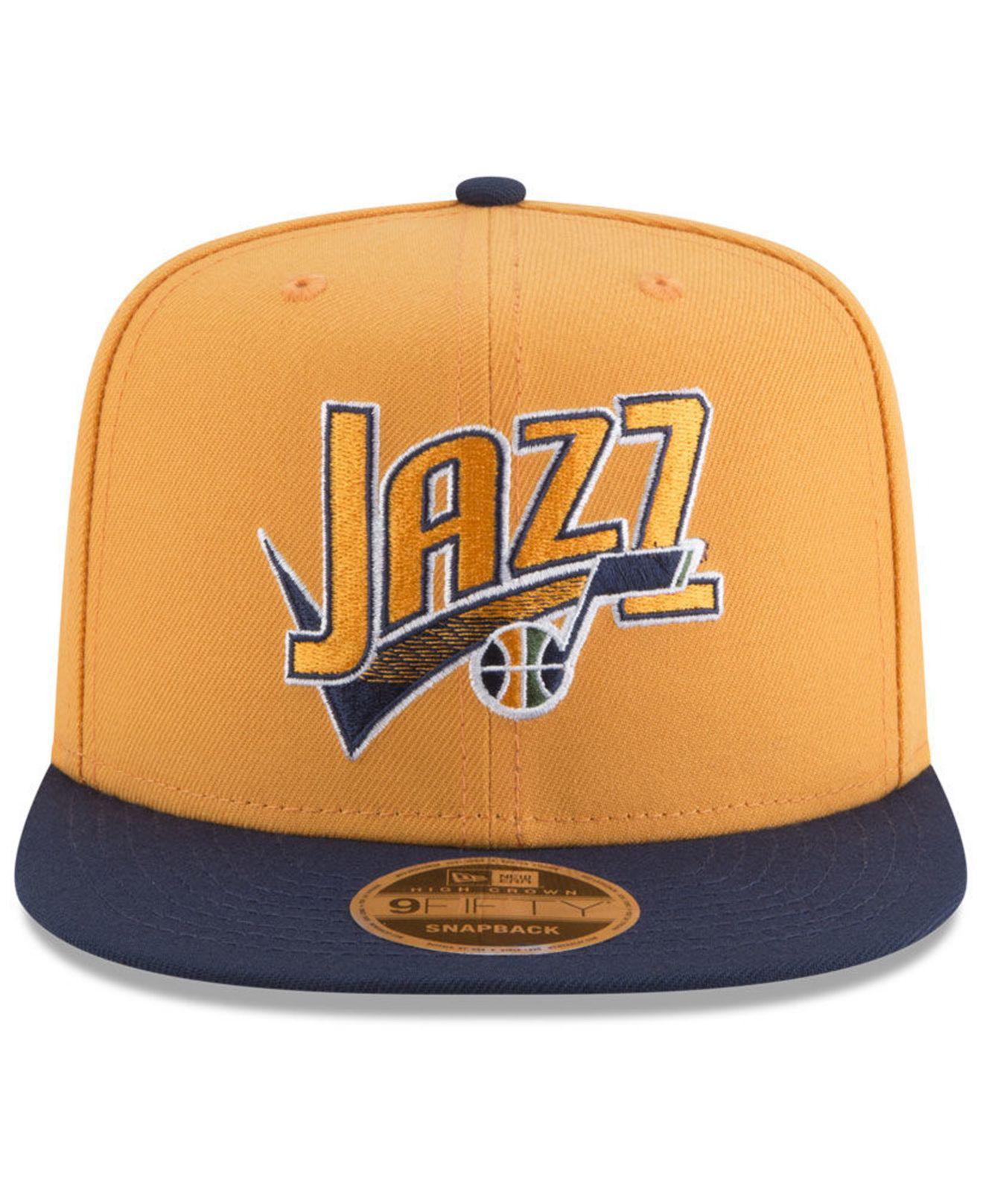 0f8bca1c8 KTZ Blue Utah Jazz Retro Tail 9fifty Snapback Cap for men