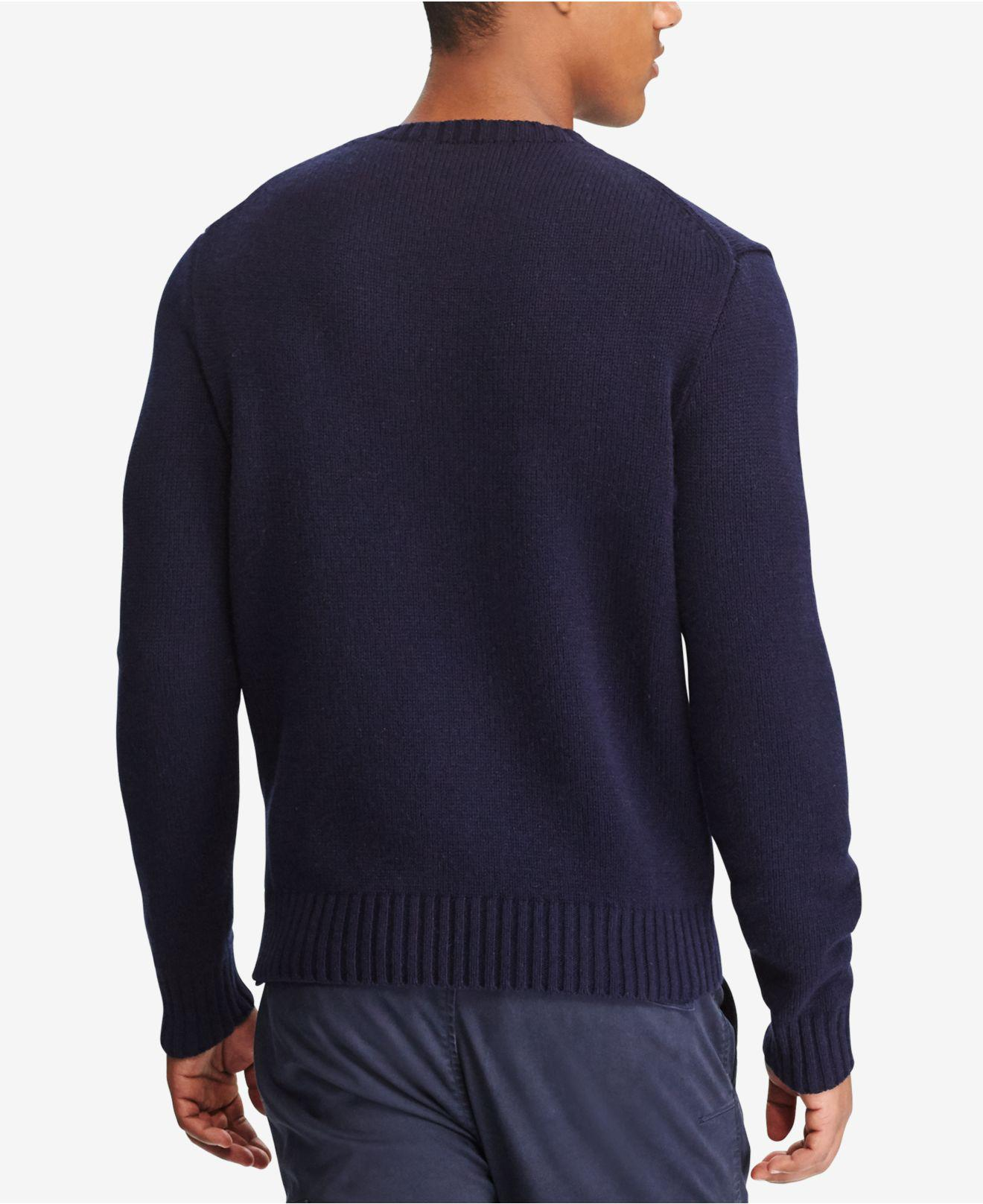 f969743bcc0 Lyst - Polo Ralph Lauren Men s Iconic Polo Bear Sweater in Blue for Men -  Save 40%
