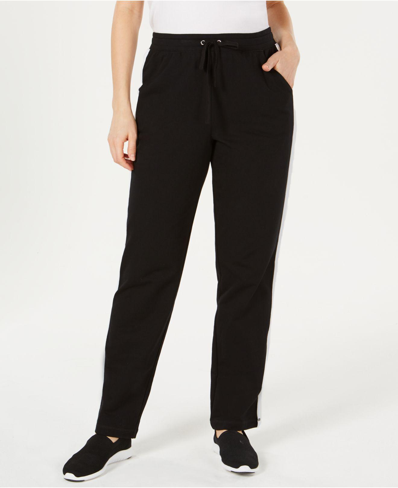6dc33a0dcf5 Lyst - Karen Scott Colorblocked Stripe Pull-on Pants