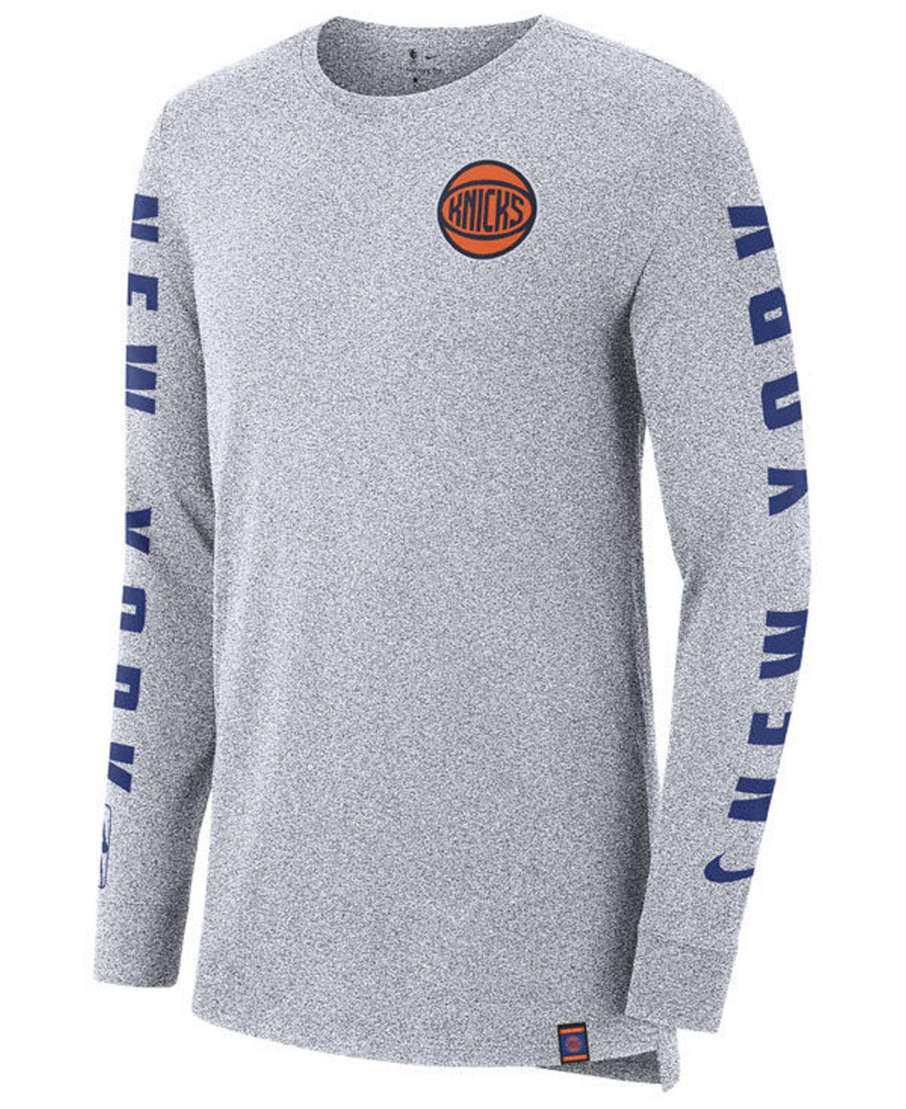 Lyst - Nike New York Knicks City Elevated Long Sleeve Dry T-shirt in ... 167689042