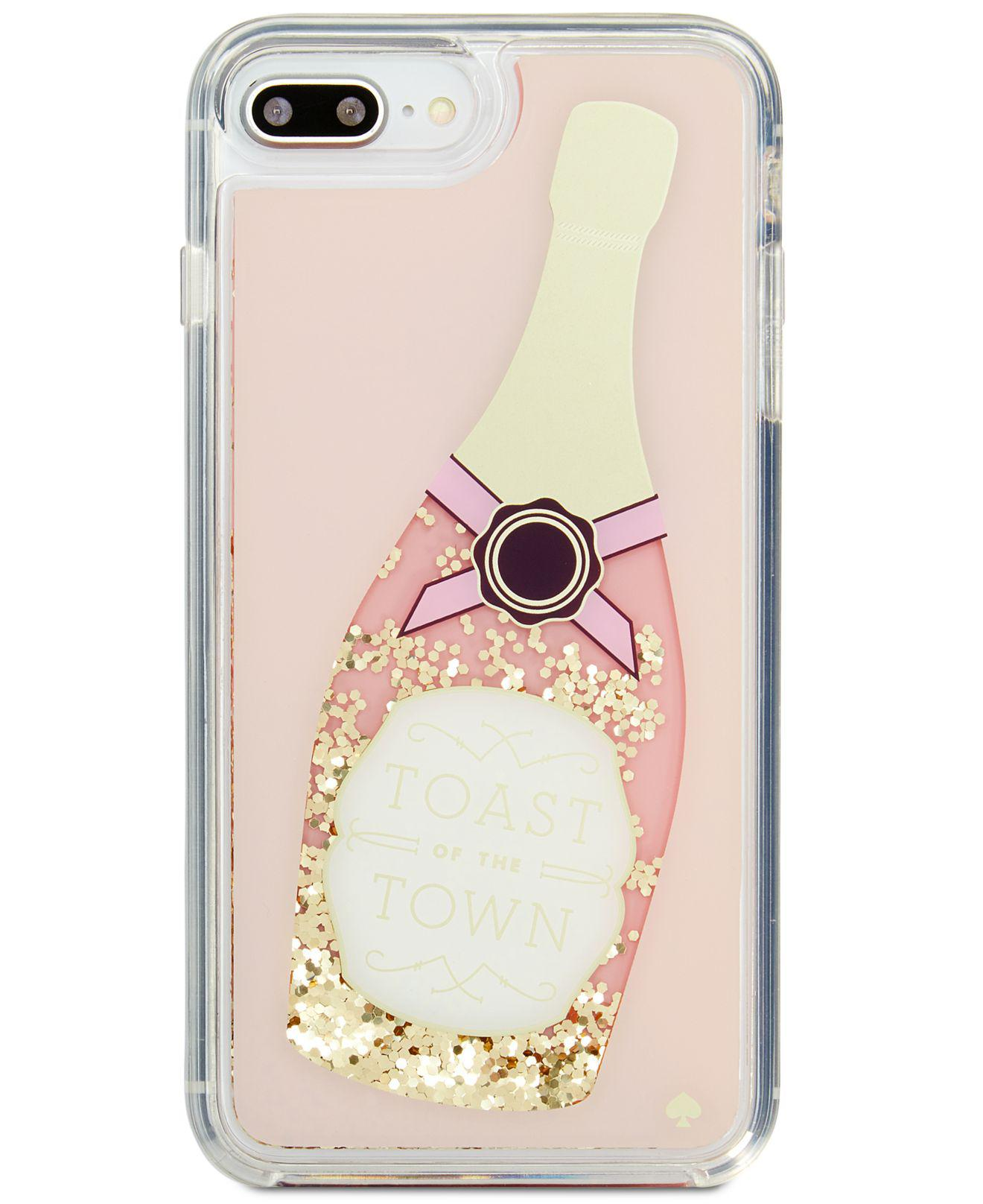 free shipping 67ff7 45708 Kate Spade Multicolor Champagne Glitter Iphone 8 Plus Case