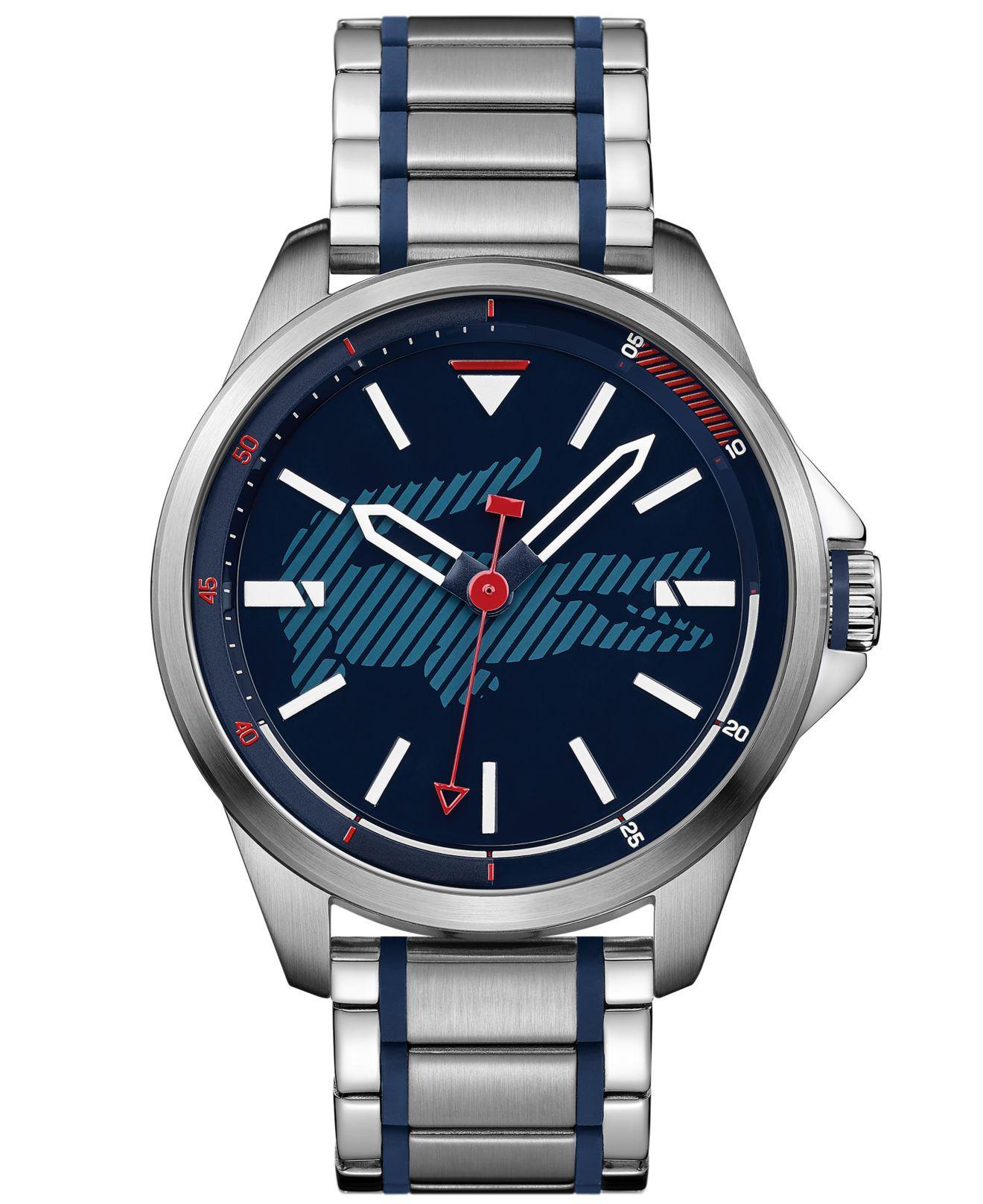 Lacoste. Men's Metallic Capbreton Stainless Steel Bracelet Watch 46mm