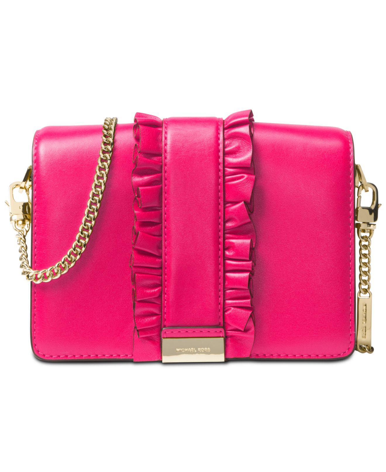 dd079e58e256 Michael Kors Jade Medium Gusset Clutch in Pink - Lyst