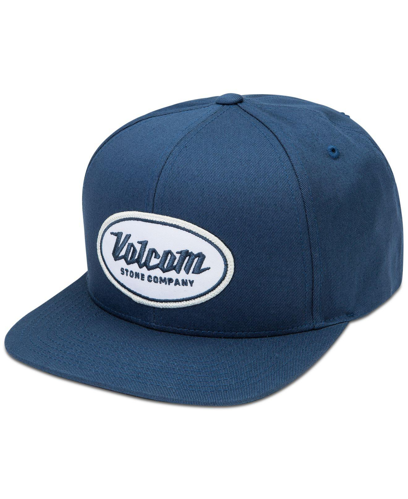 Lyst - Volcom Men s Cresticle Snapback Logo Hat in Blue for Men 869ba6f9d254
