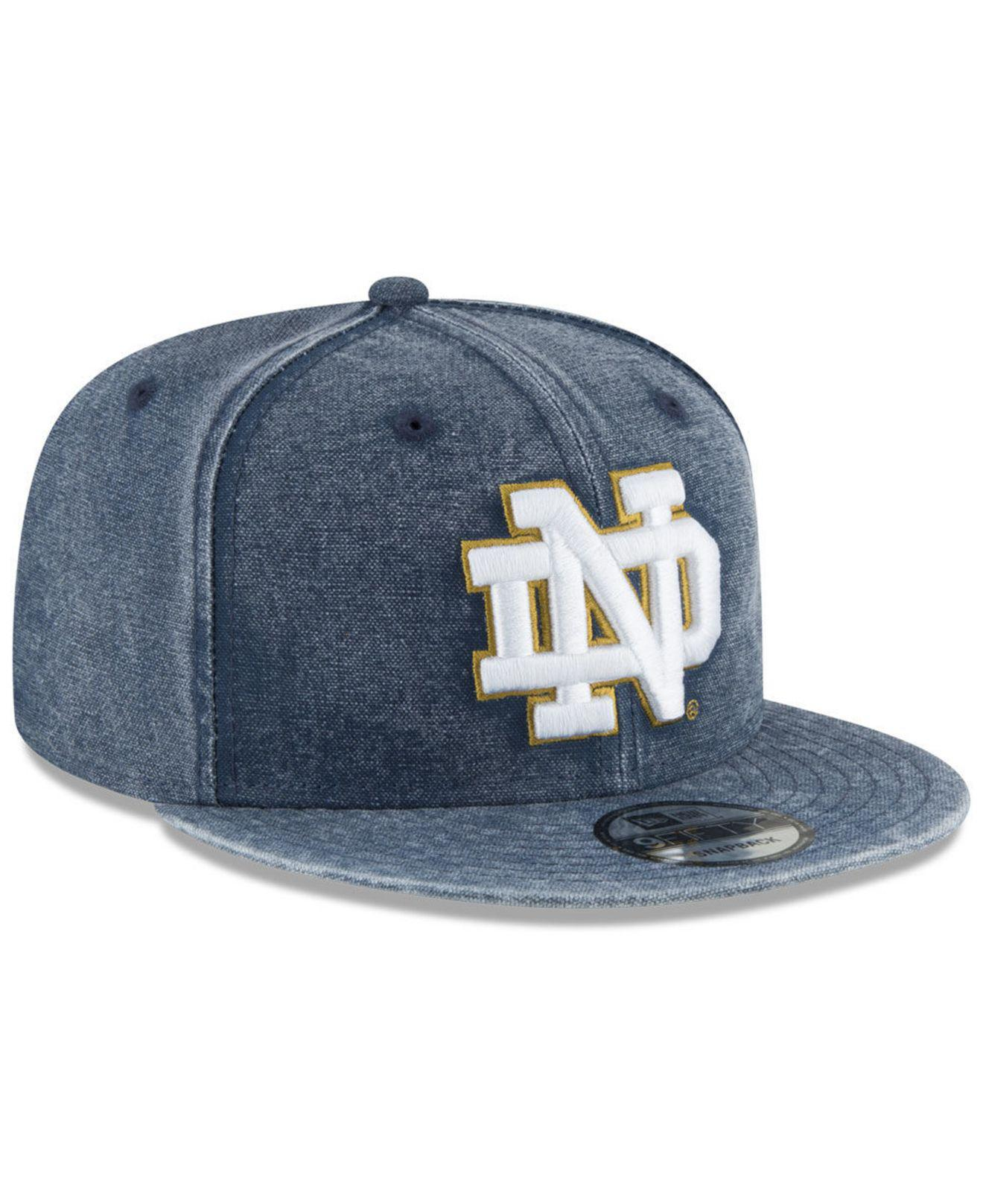 cheaper c140e 73926 KTZ Notre Dame Fighting Irish Rugged Canvas Snapback Cap in Blue for ...