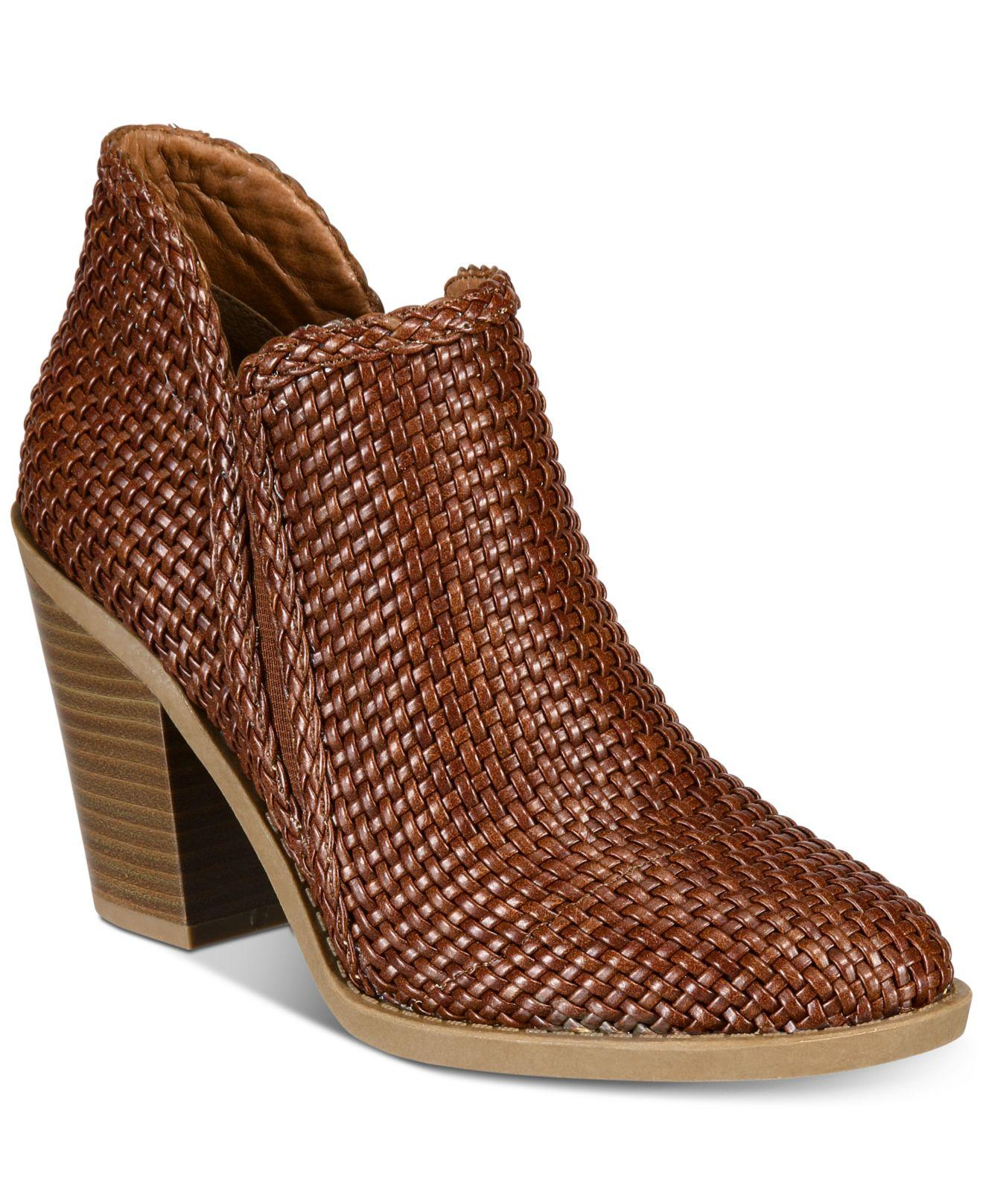 9e1b029979bb Lyst - Esprit Kelsie Block-heel Ankle Booties in Brown