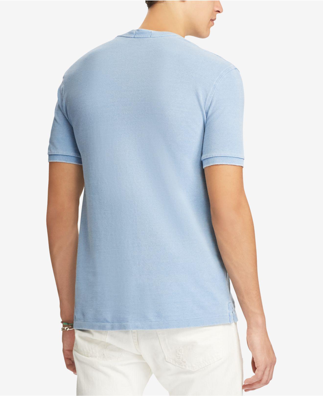 b1a047c19 Polo Ralph Lauren Big & Tall Featherweight Mesh Henley Shirt in Blue ...