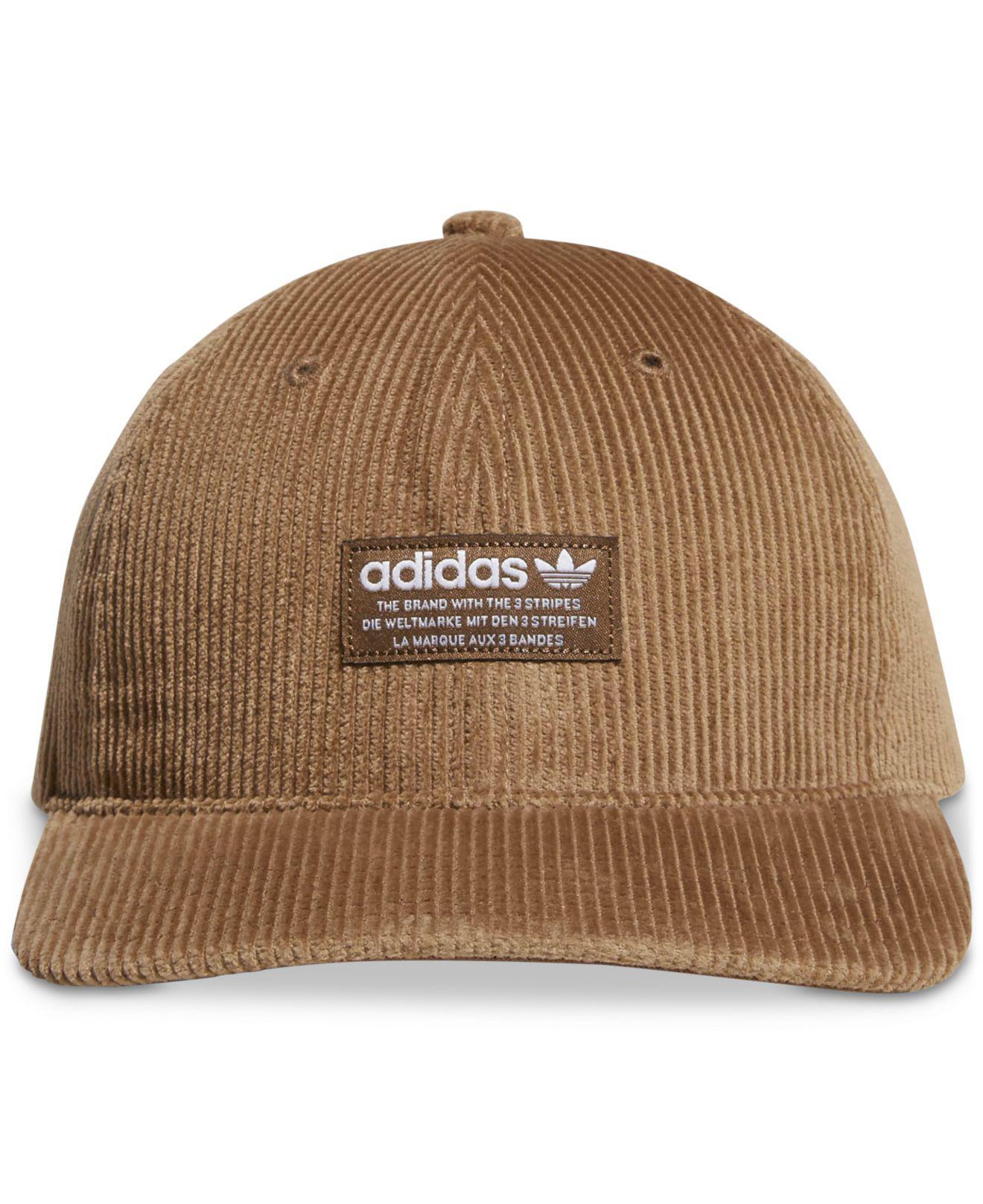b75b8d3c158 Adidas - Brown Originals Corduroy Logo Hat for Men - Lyst. View fullscreen