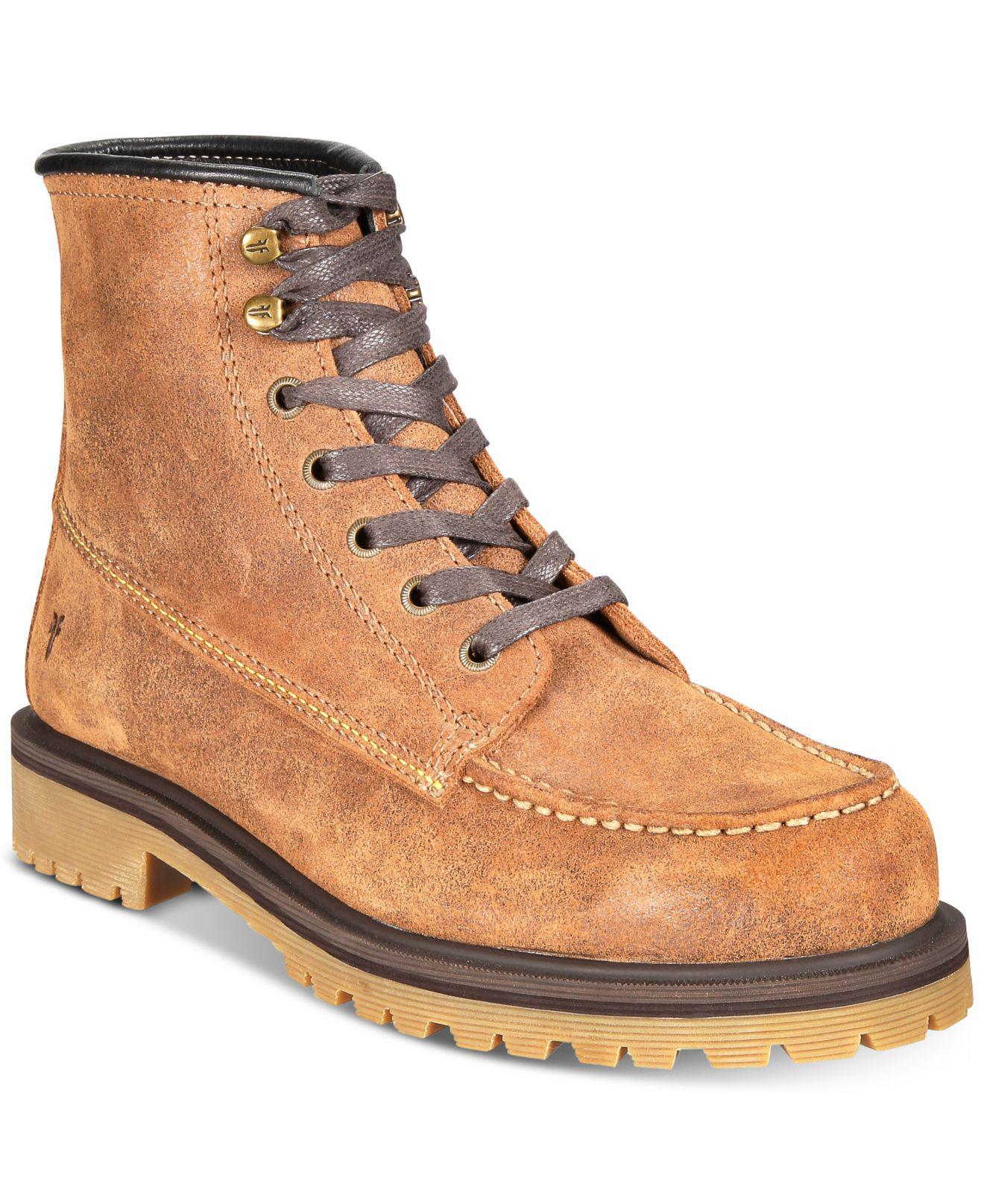 d0db060cc5f4f Frye. Men s Brown Pine Lug Leather Work Boots ...