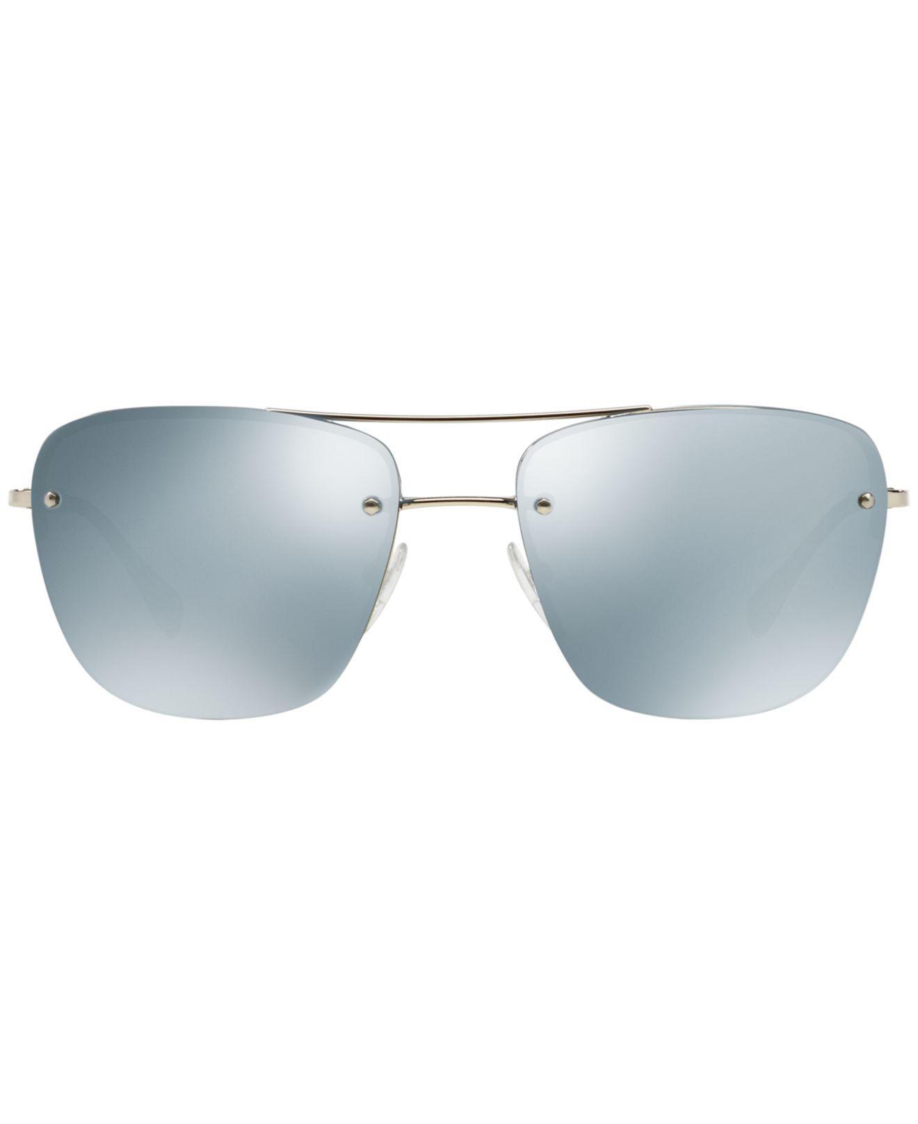 2064993aa185 ... greece lyst prada sunglasses ps 52rs in metallic for men ede4b b5627