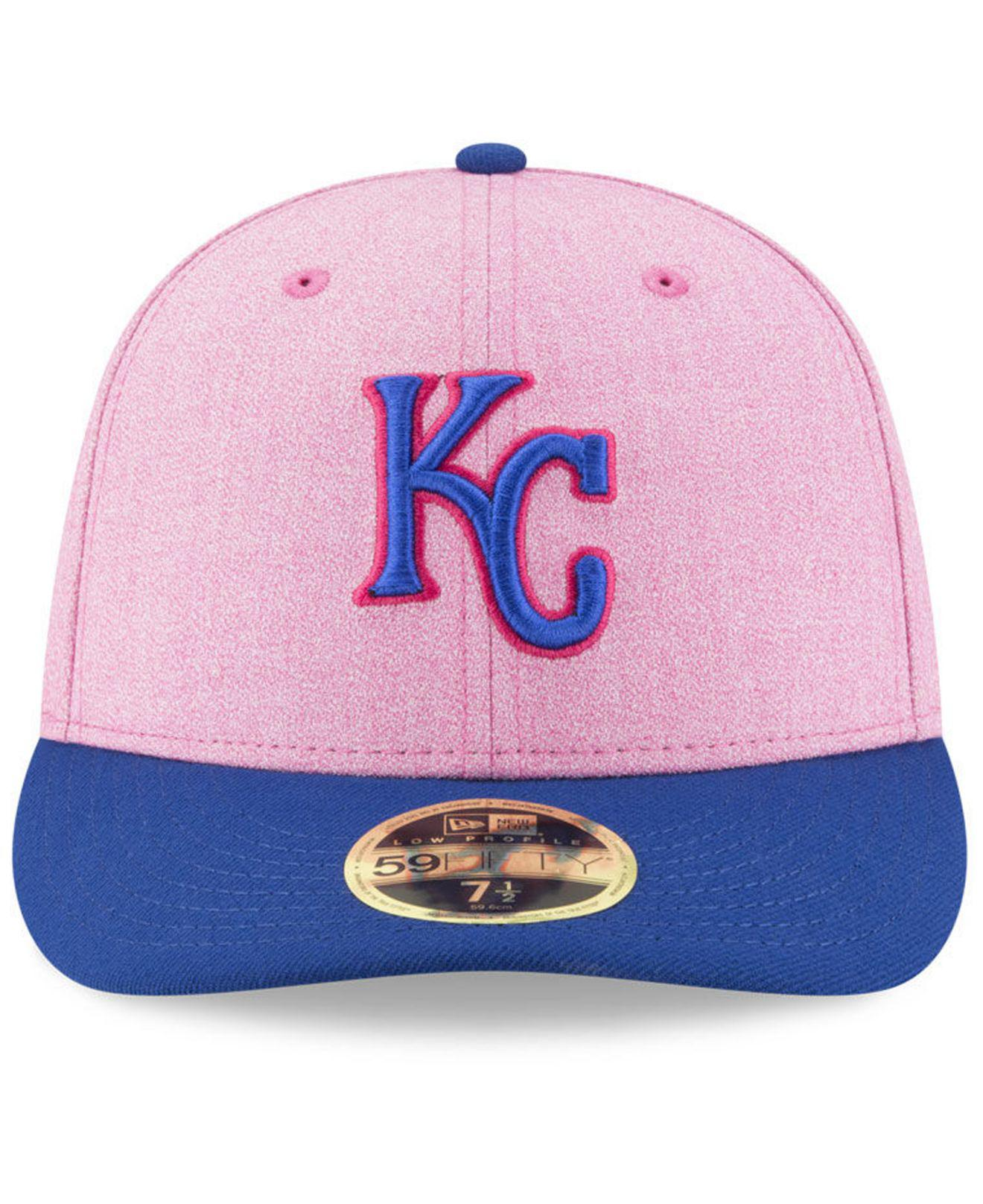 44be7e49f09 Lyst - KTZ Kansas City Royals Mothers Day Low Profile 59fifty Fitted Cap in  Pink