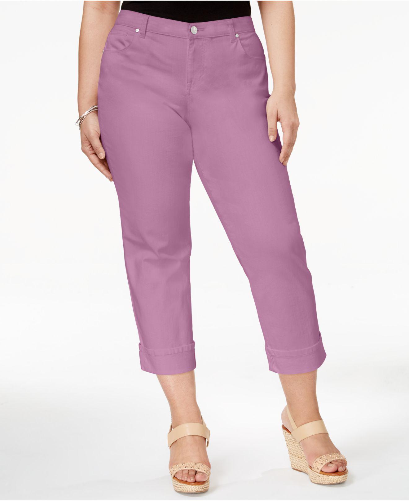 d0ce77de825 Lyst - Style   Co. Plus Size Tummy-control Capri Jeans