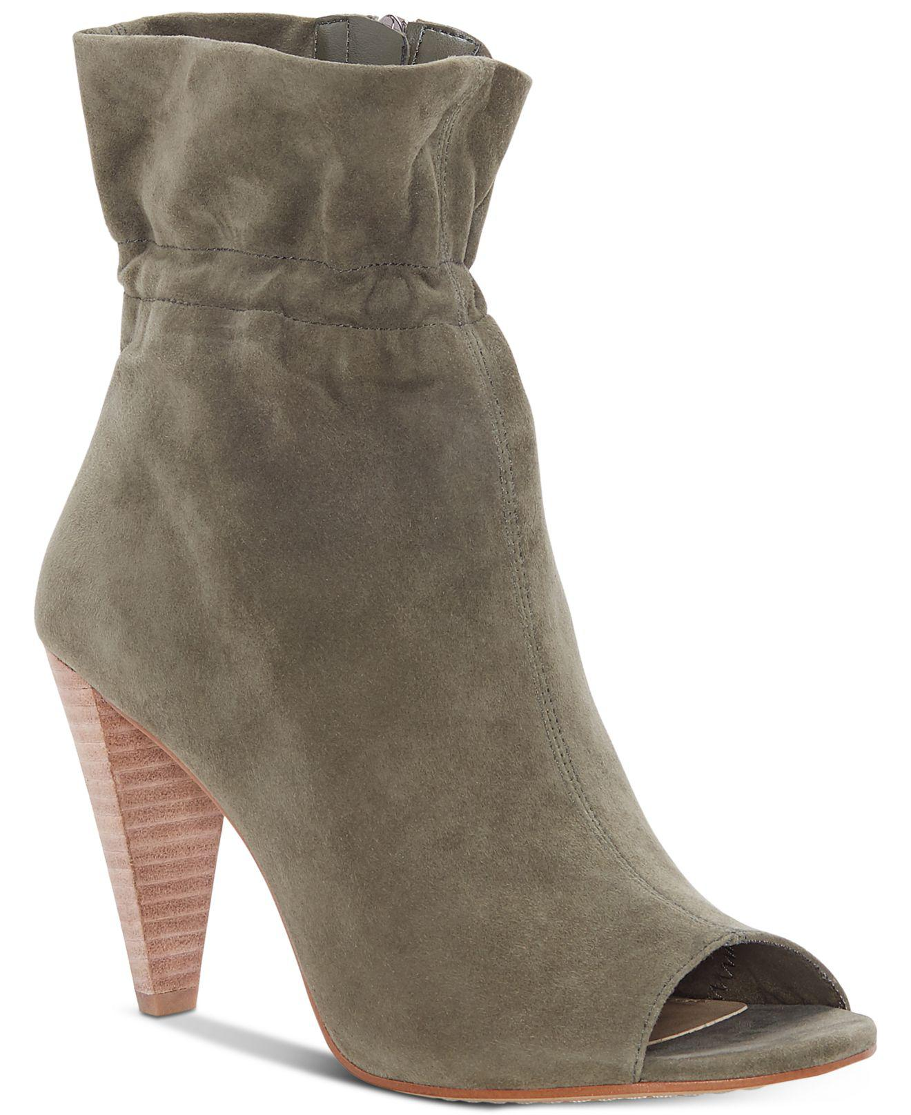 Vince Camuto Addiena Paperbag Top Leather Booties 5lyphH