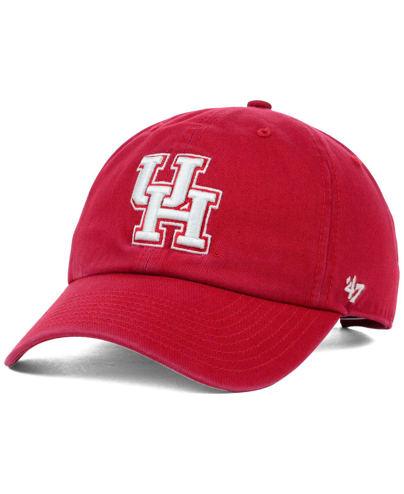 pretty nice 54cb2 9633d ... where to buy 47 brand. mens red houston cougars ncaa clean up cap dfdf0  bc4d3