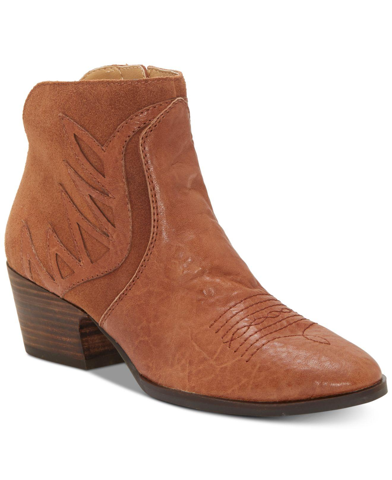 Lucky Brand Idellina Bootie in Brown - Lyst