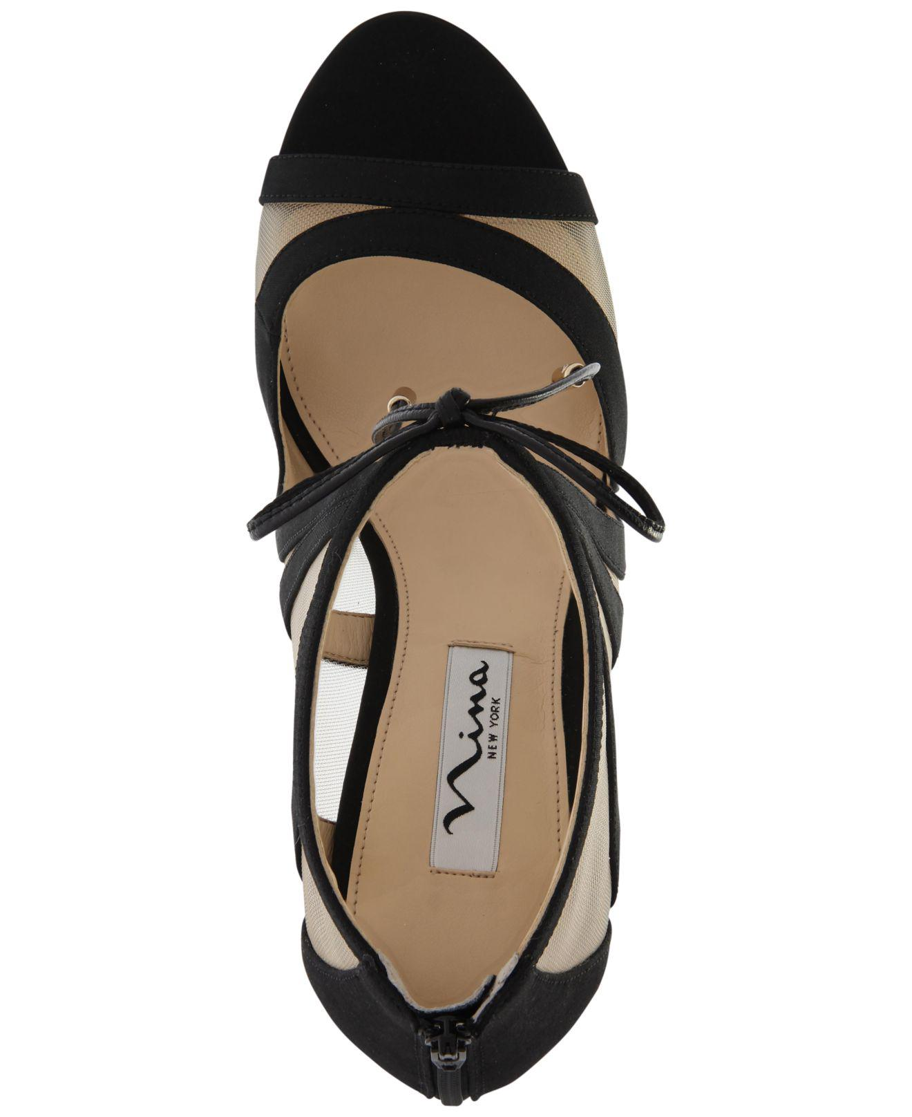 Nina - Black Cherie Evening Sandals - Lyst. View fullscreen