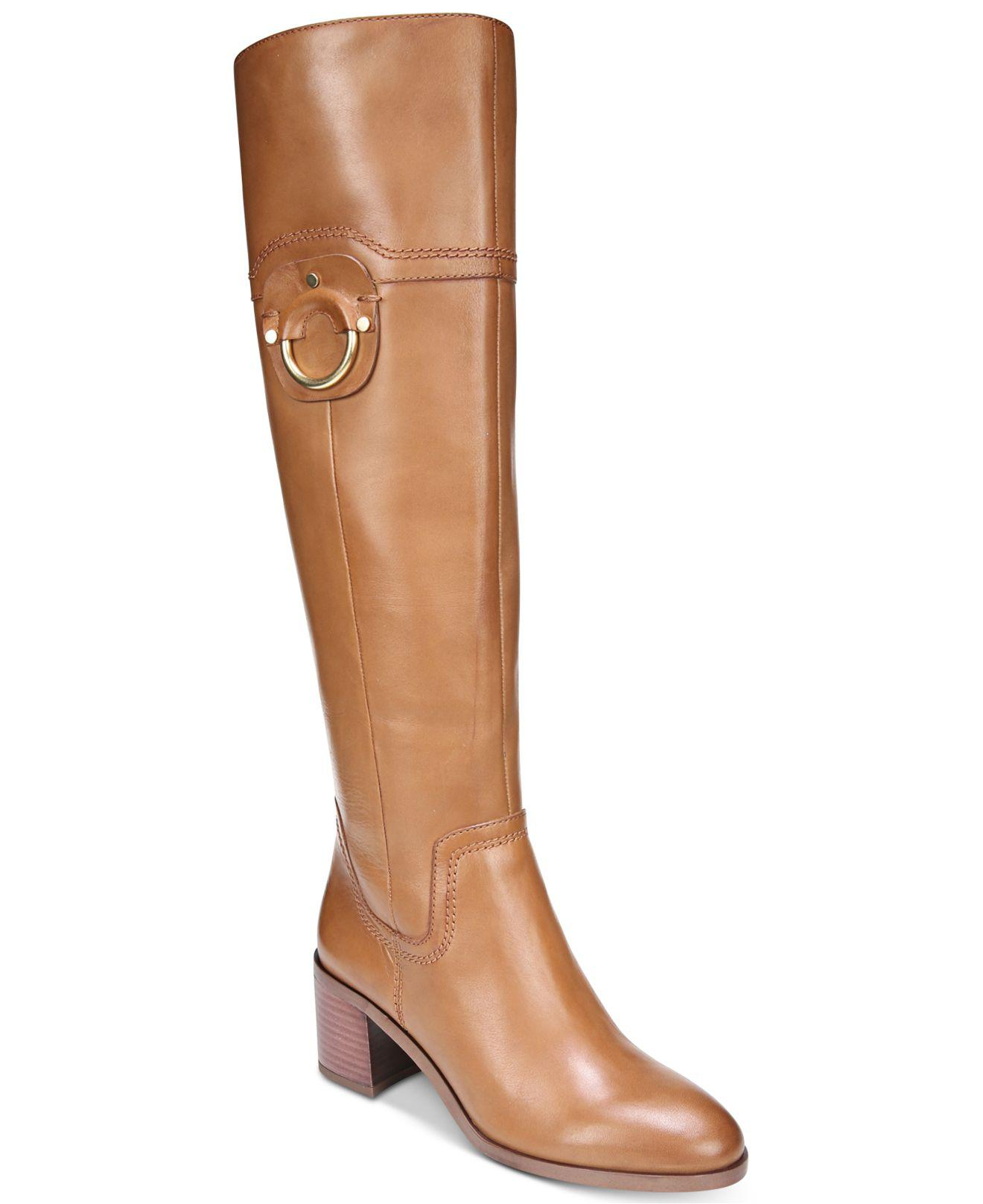 199025b974a Lyst - Franco Sarto Beckford Wide-calf Dress Boots in Brown