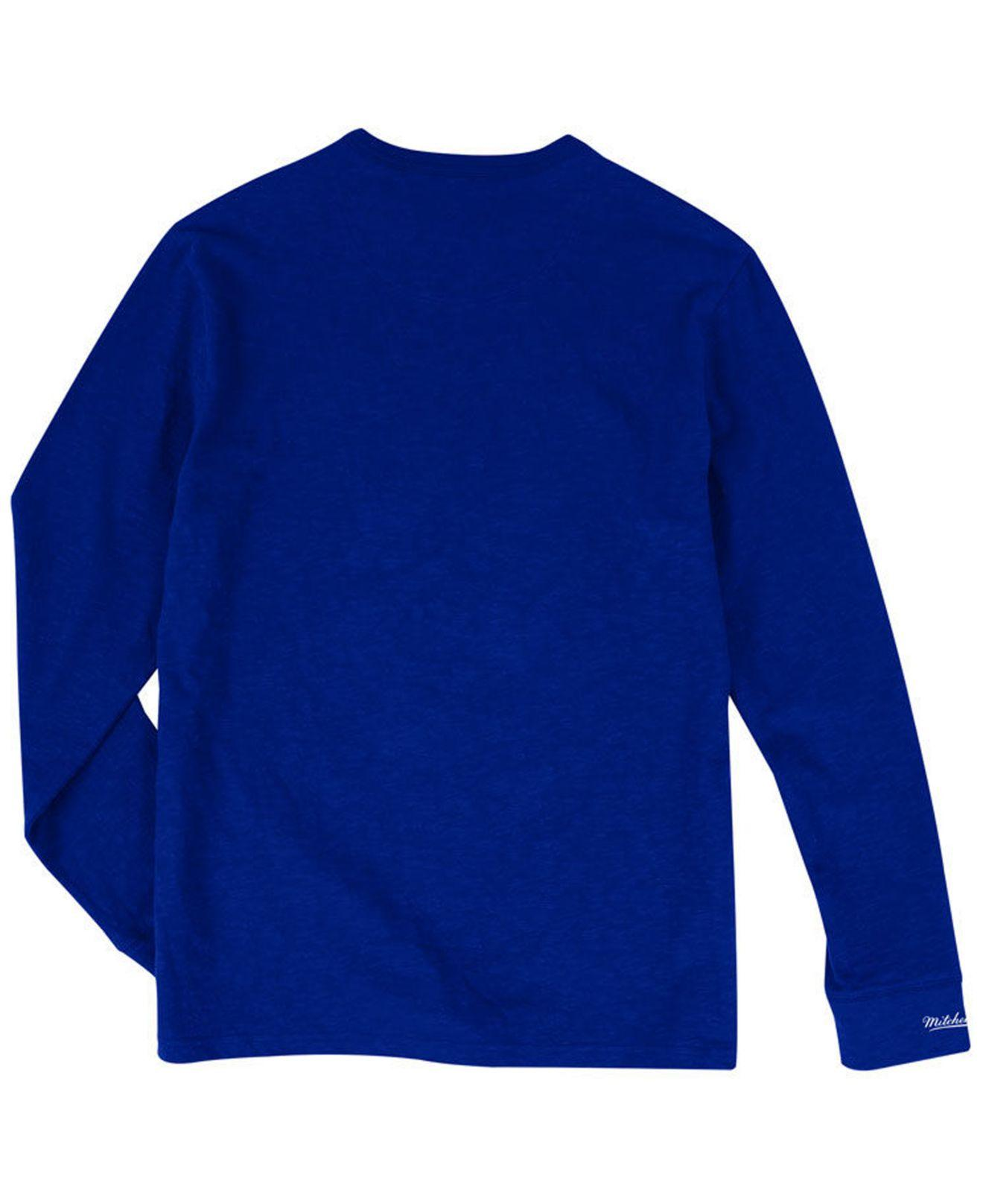 6573f1e2 Lyst - Mitchell & Ness Los Angeles Dodgers Slub Long Sleeve T-shirt in Blue  for Men