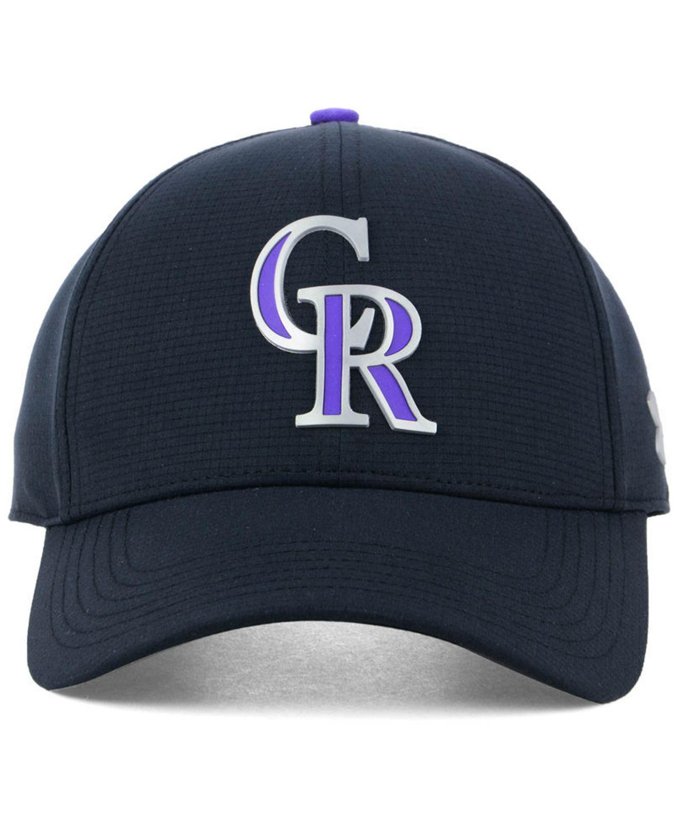 befc82a1156 ... promo code for lyst under armour colorado rockies driver cap in black  for men ccf4e 318fe
