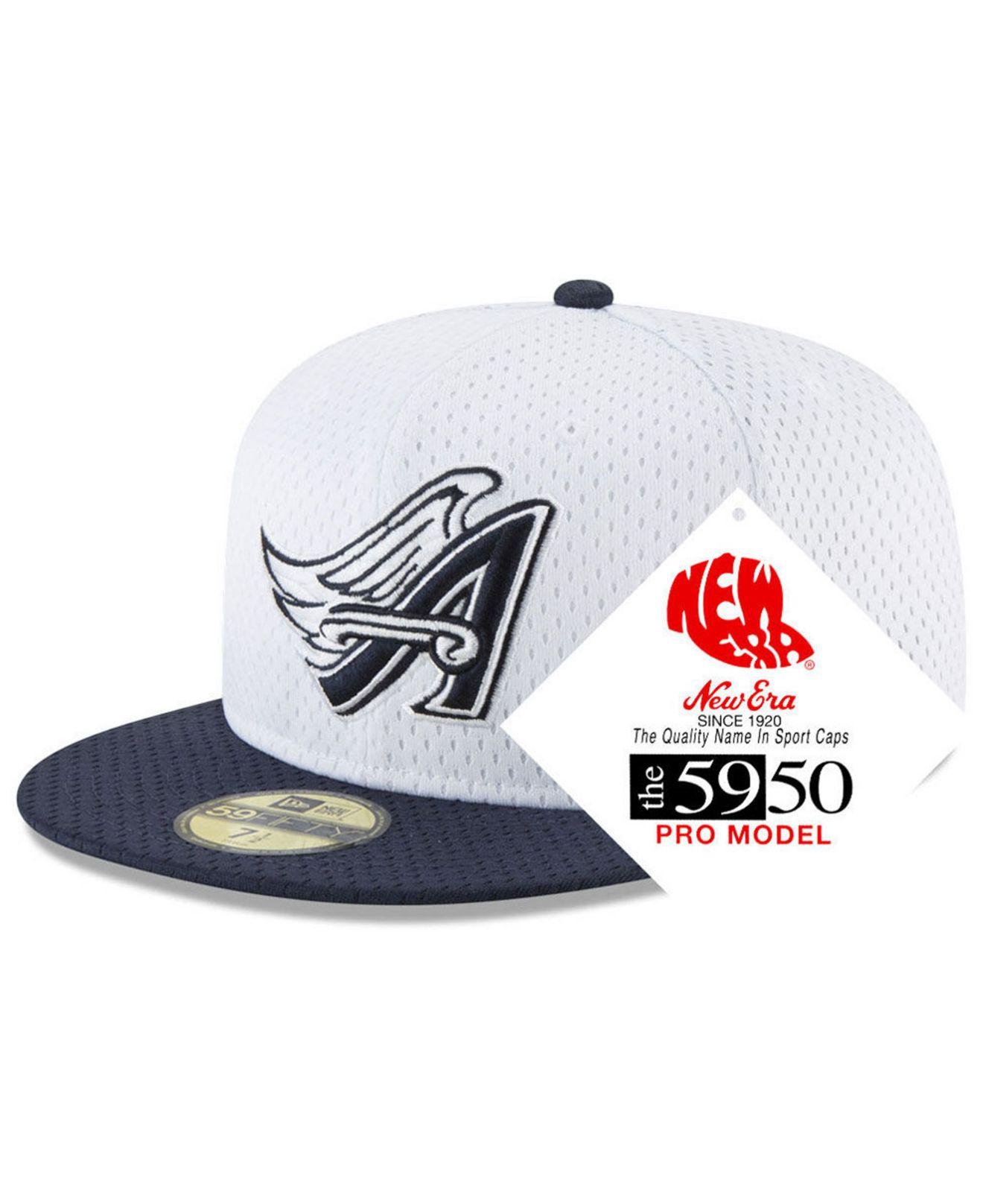2389917000a Lyst - KTZ Los Angeles Angels Retro Classic Batting Practice 59fifty ...