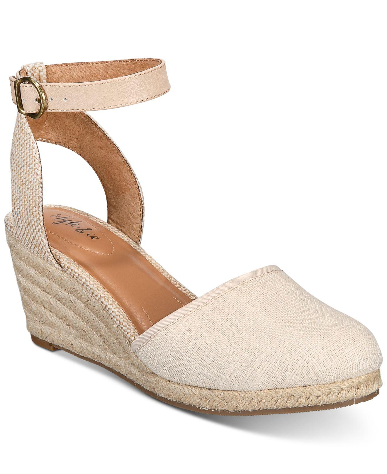 2968b84bd39 Style & Co. Natural Mailena Wedge Espadrille Sandals, Created For Macy's