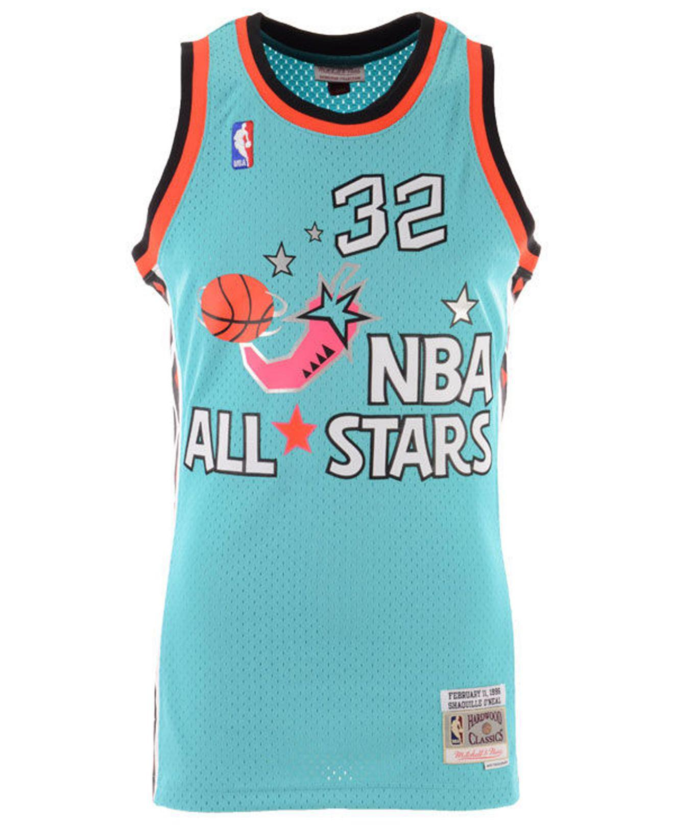 60100d4c228 Lyst - Mitchell & Ness Shaquille O'neal Nba All Star 1996 Swingman Jersey  in Blue for Men