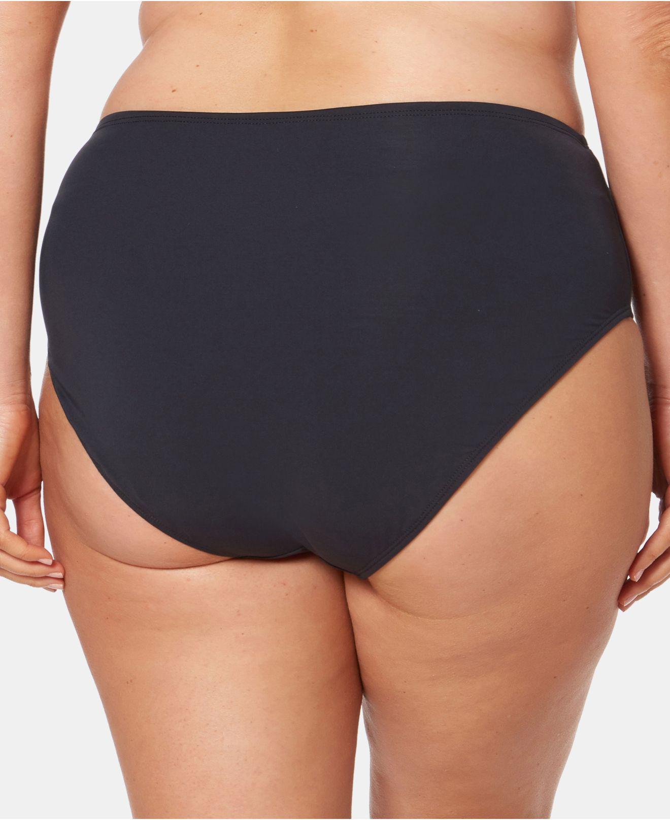 4f6eb0f28e703 Lyst - Bleu Rod Beattie Plus Size High-waist Swim Bottoms in Black
