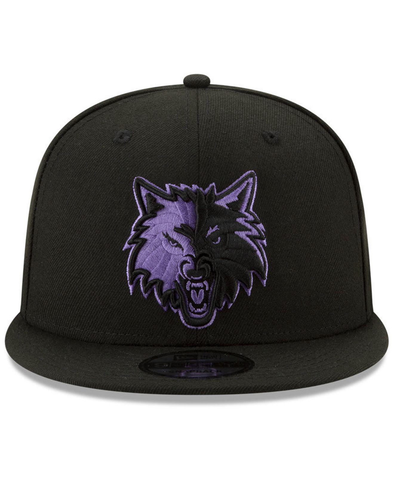 7bd57898f ... shopping lyst ktz minnesota timberwolves city pop series 9fifty  snapback cap in black for men 7b454