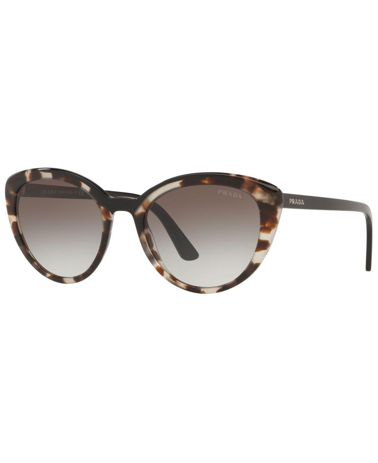 07df4abd1f28 Prada - Gray 54mm Cat Eye Sunglasses - Opal Brown Gradient - Lyst. View  fullscreen