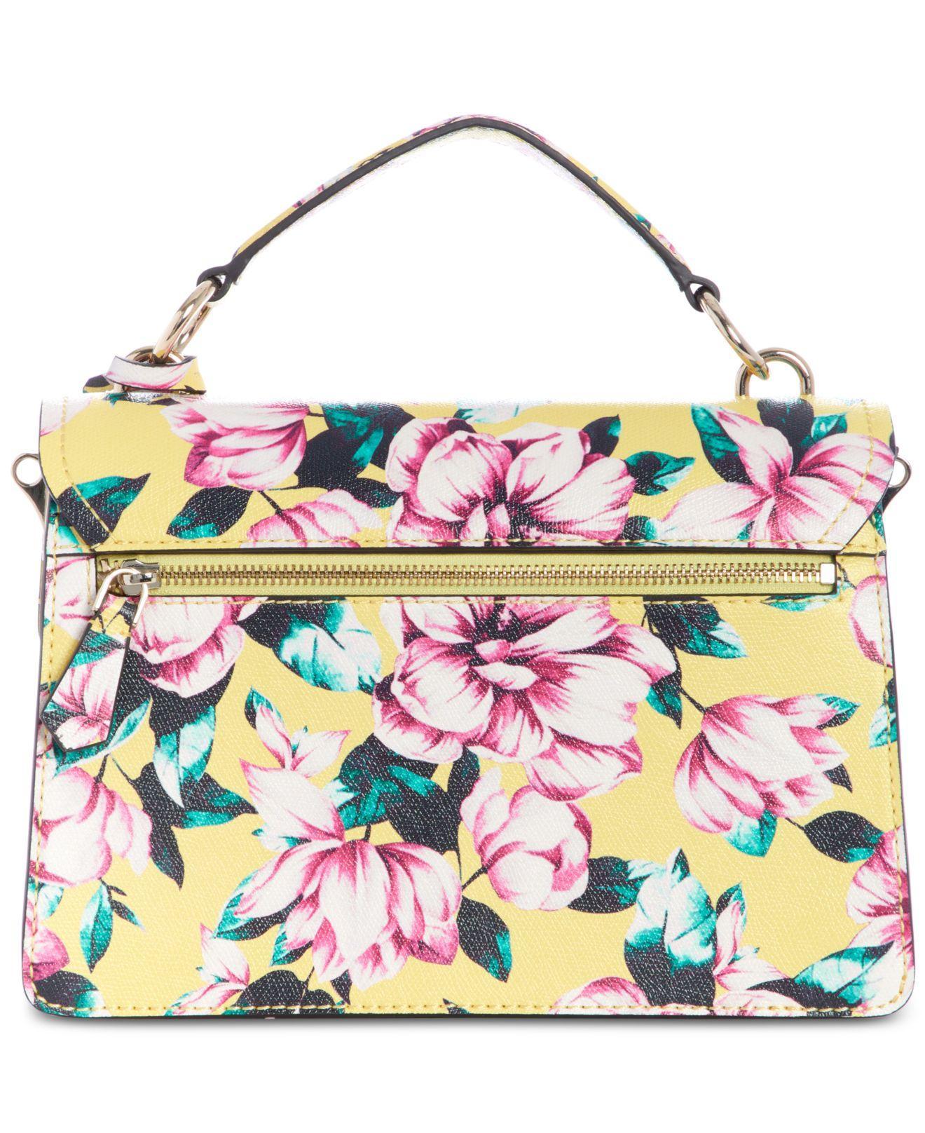 GUESS Landon Floral Top Handle Flap