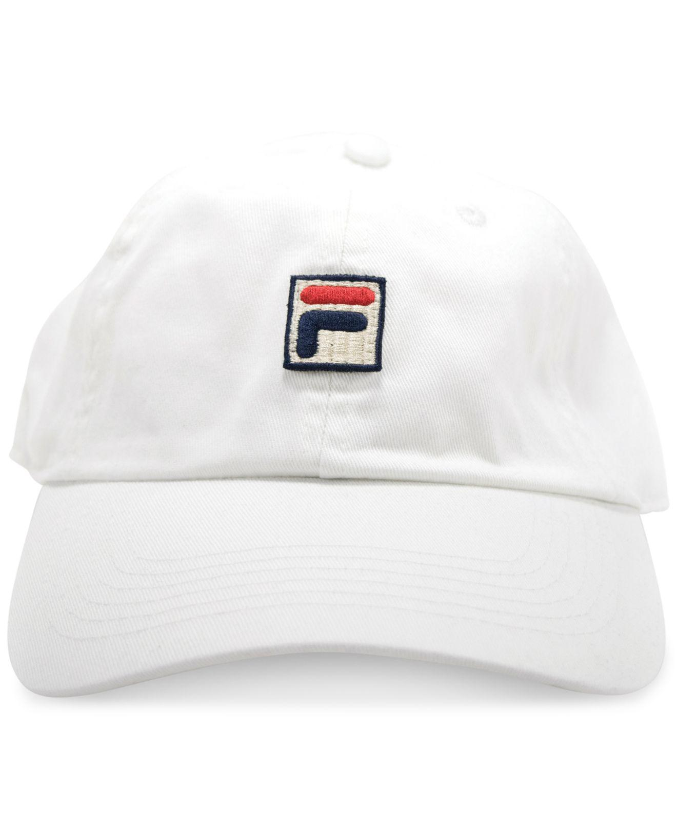Lyst - Fila Heritage Cotton Baseball Cap in White f377187b1beb
