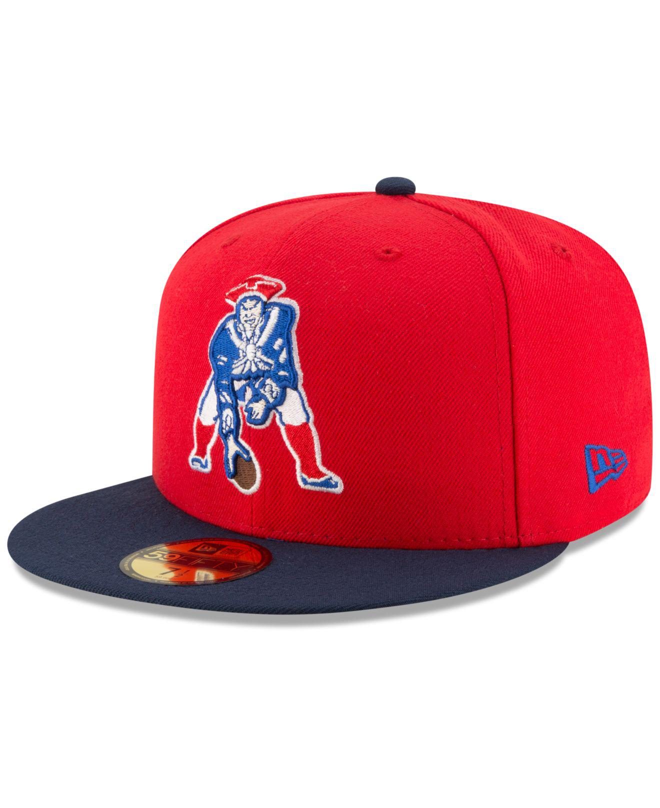 Lyst - KTZ New England Patriots Team Basic 59fifty Cap in Red for Men 4e4ca6c7c