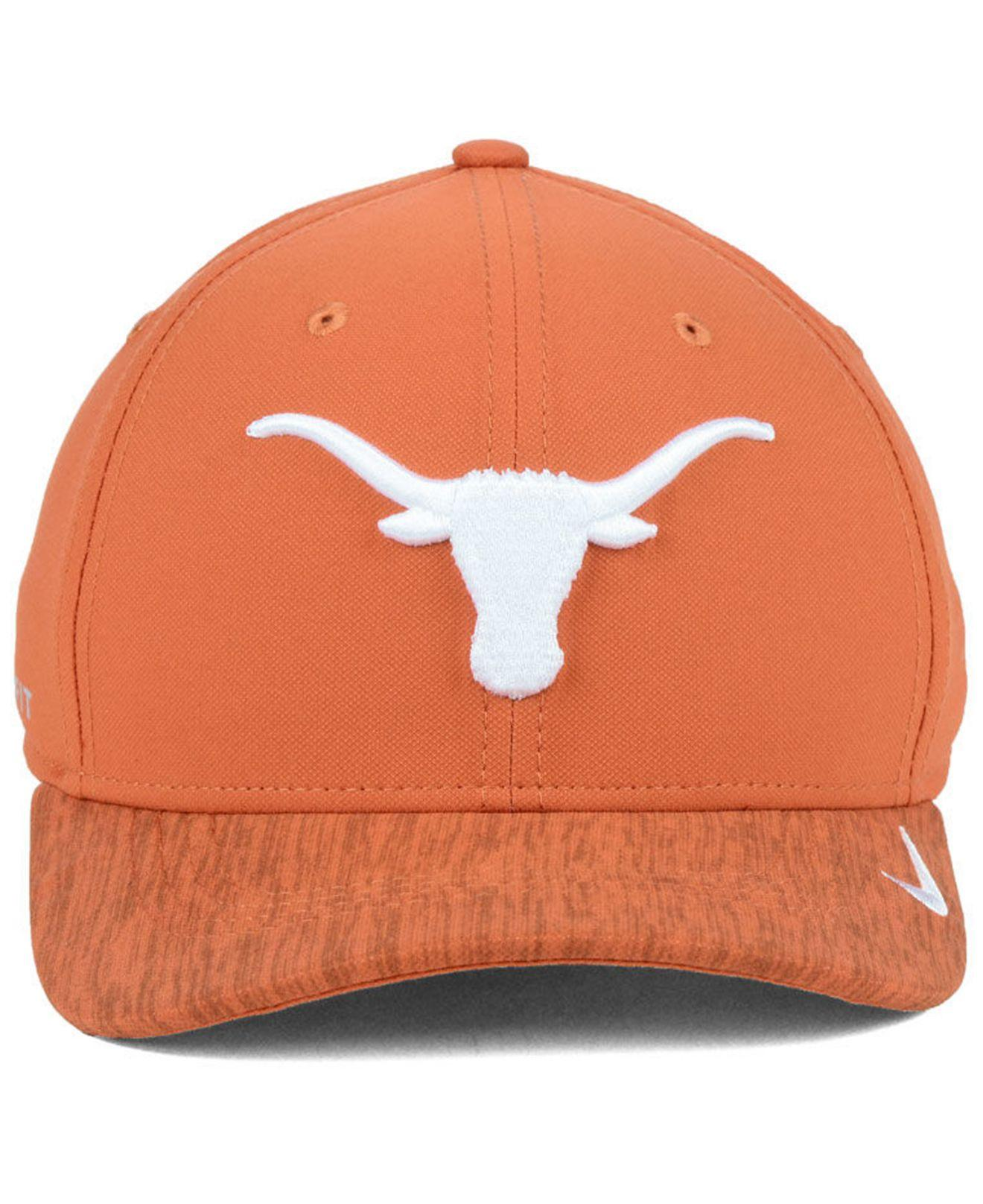 low priced 85744 530bf Lyst - Nike Texas Longhorns Arobill Swoosh Flex Stretch Fitted Cap in Orange  for Men