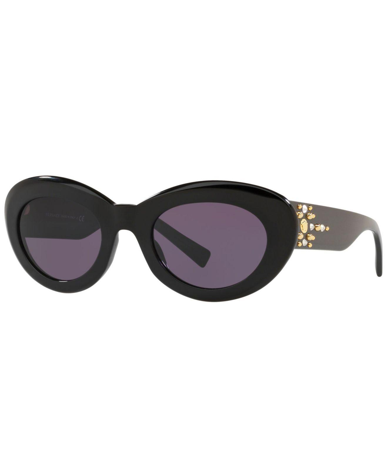 7c2be3fa55 Versace. Women s Black Sunglasses ...