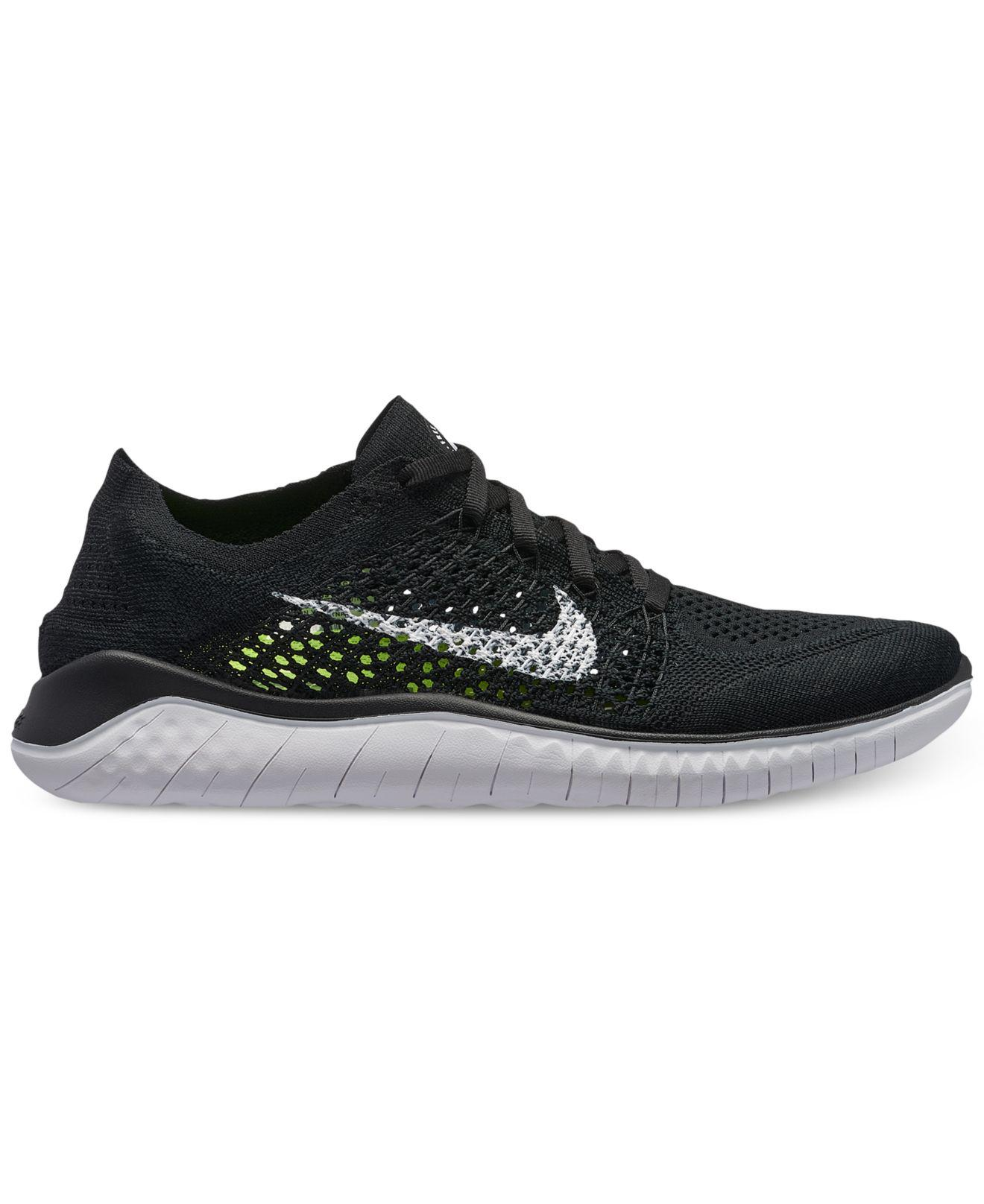 Nike. Women s Black Free Run Flyknit 2018 Running Sneakers From Finish Line aa60aa941